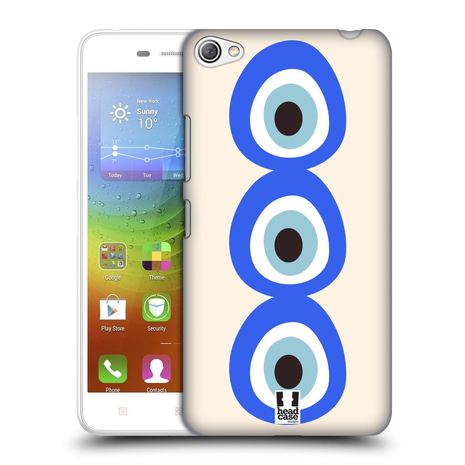 HEAD CASE pevný plastový obal na mobil LENOVO S60 / LENOVO S60 DUAL SIM vzor Paví oko 3 očka