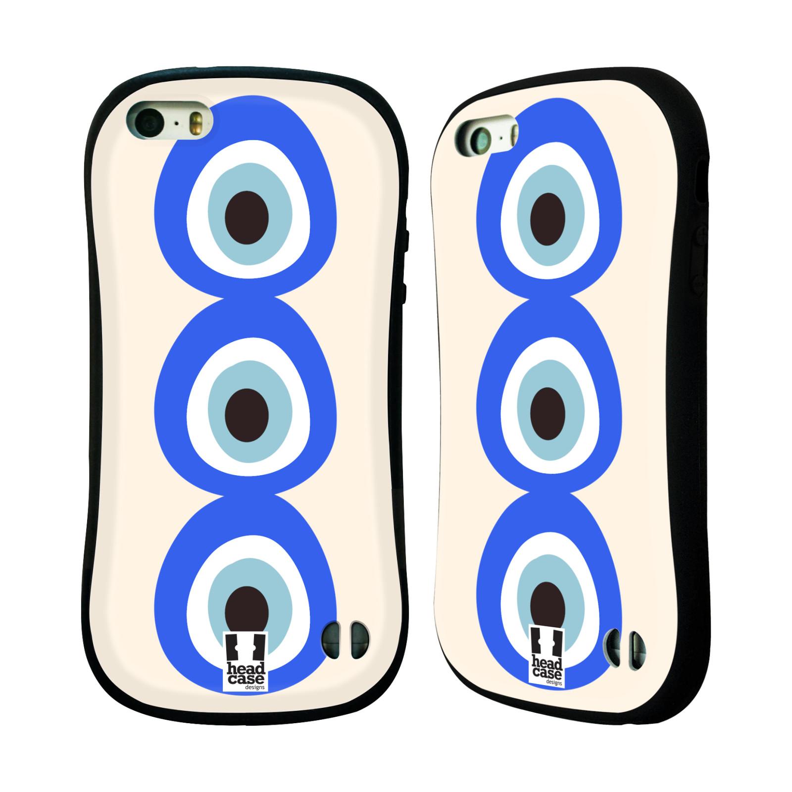HEAD CASE silikon/plast odolný obal na mobil Apple Iphone 5/5S vzor Paví oko 3 očka