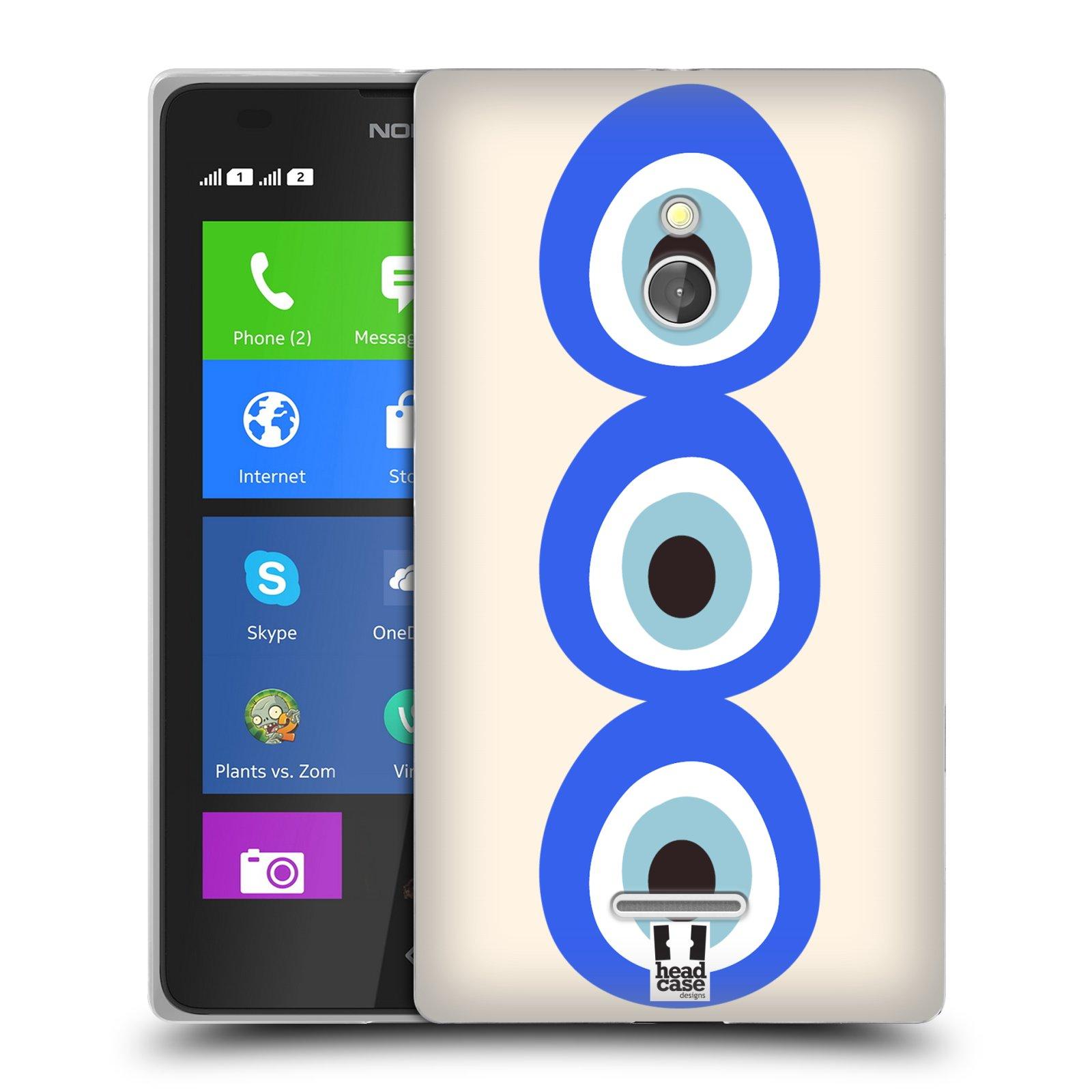HEAD CASE silikonový obal na mobil NOKIA XL / NOKIA XL DUAL SIM vzor Paví oko 3 očka