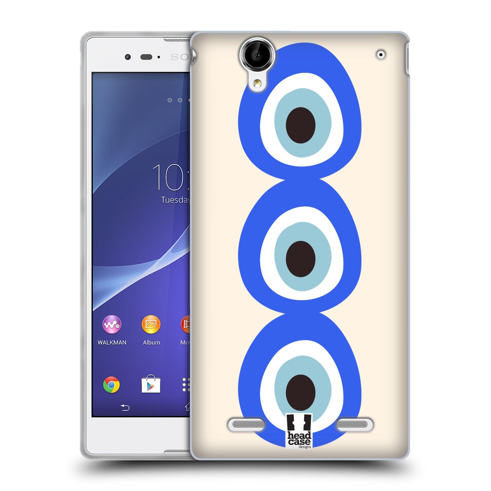 HEAD CASE silikonový obal na mobil Sony Xperia T2 Ultra/T2 Ultra DUAL SIM vzor Paví oko 3 očka
