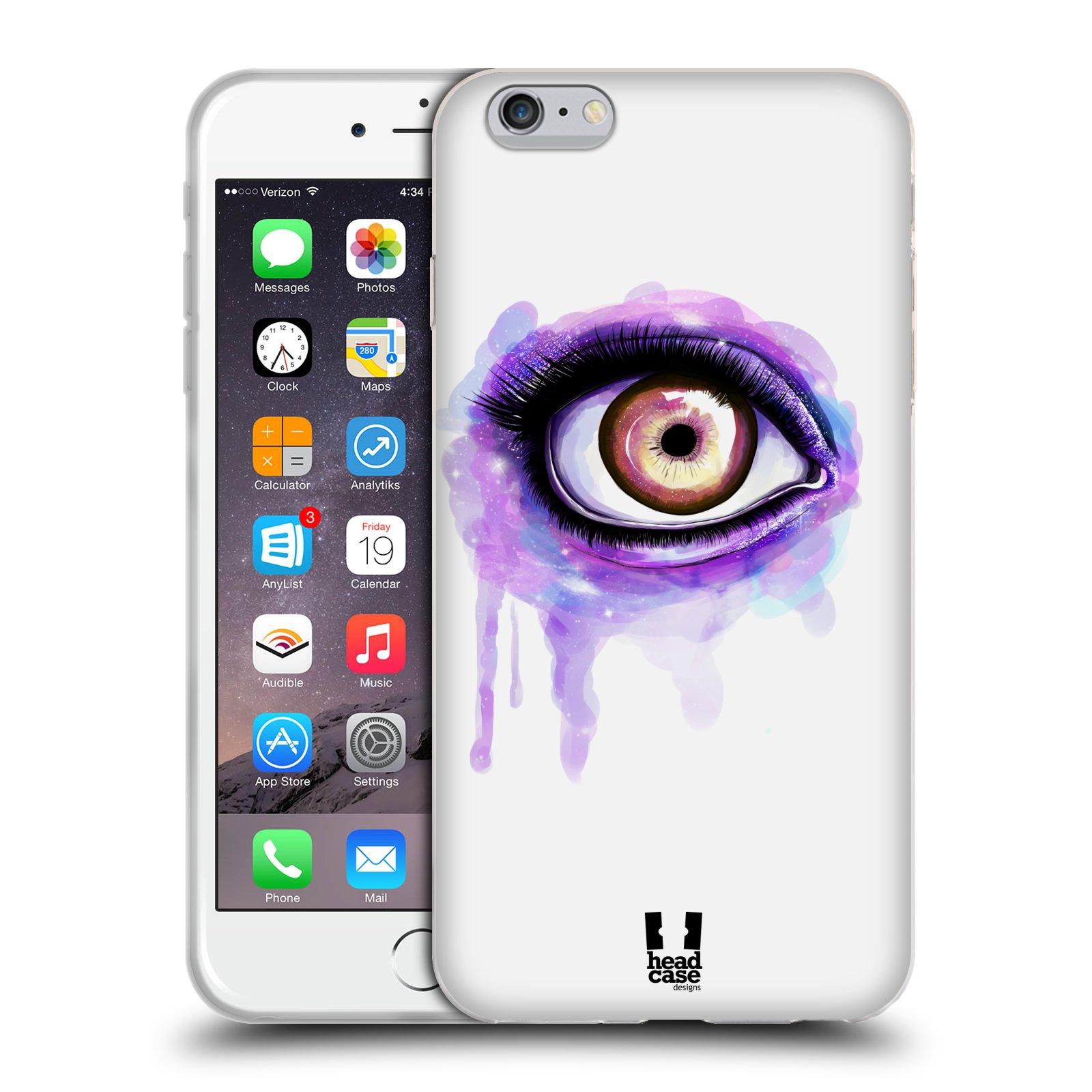 HEAD CASE silikonový obal na mobil Apple Iphone 6 PLUS/ 6S PLUS vzor OKO barevné FIALOVÁ