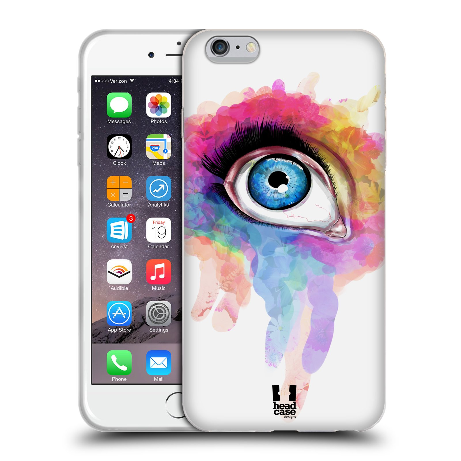 HEAD CASE silikonový obal na mobil Apple Iphone 6 PLUS/ 6S PLUS vzor OKO barevné DUHA