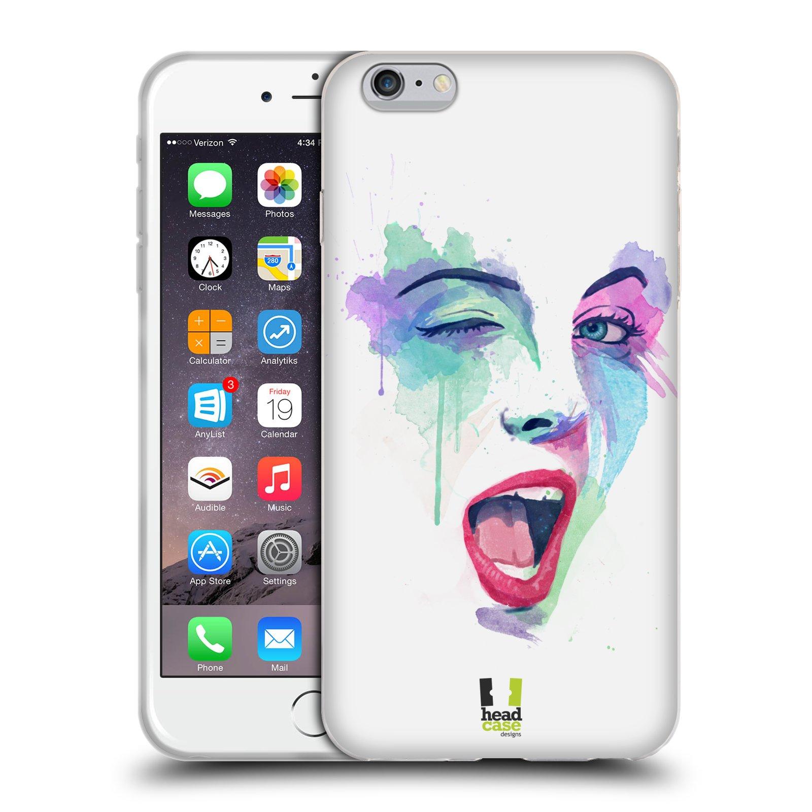 HEAD CASE silikonový obal na mobil Apple Iphone 6 PLUS/ 6S PLUS vzor Tvaře vodní barvy MRKNUTÍ