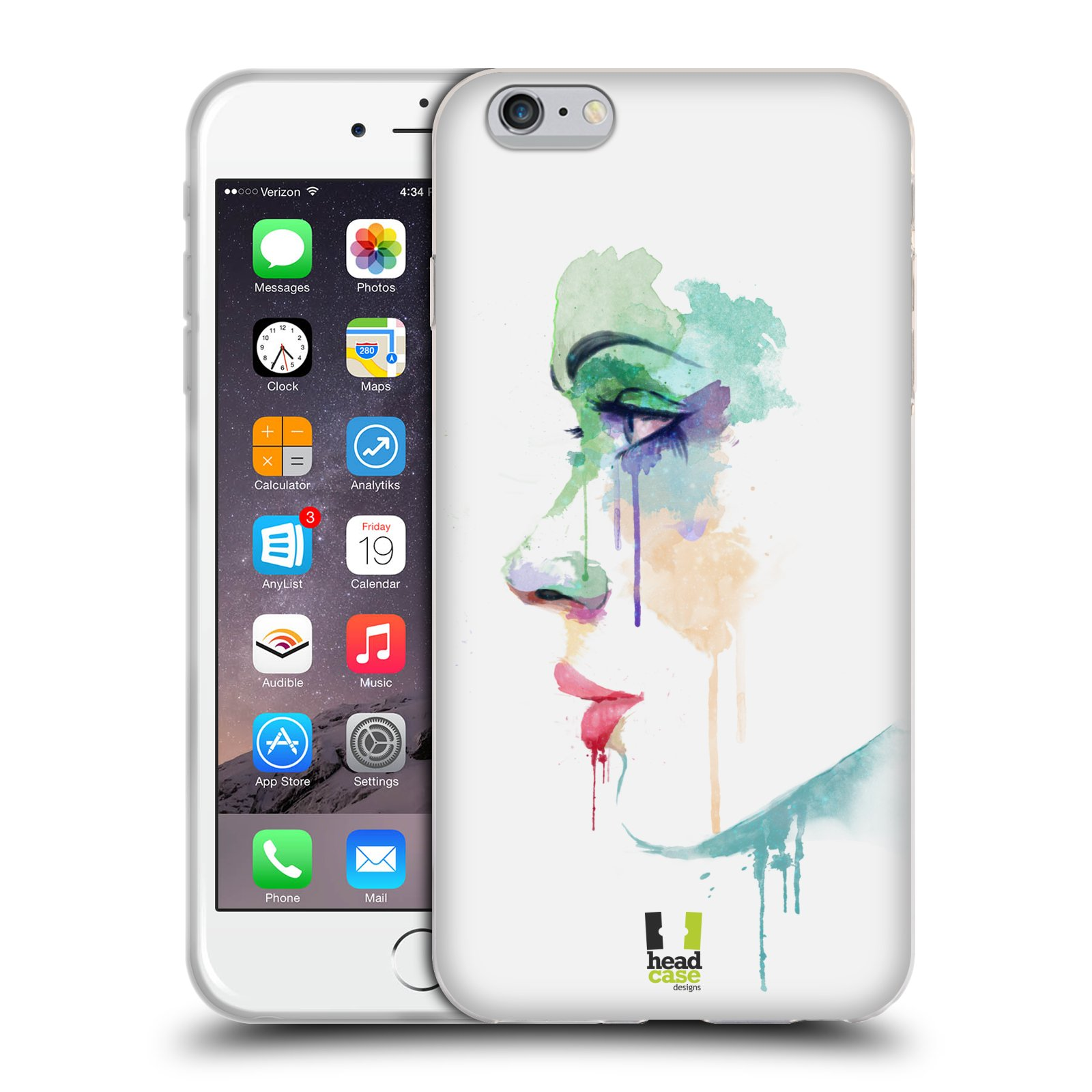 HEAD CASE silikonový obal na mobil Apple Iphone 6 PLUS/ 6S PLUS vzor Tvaře vodní barvy PROFIL