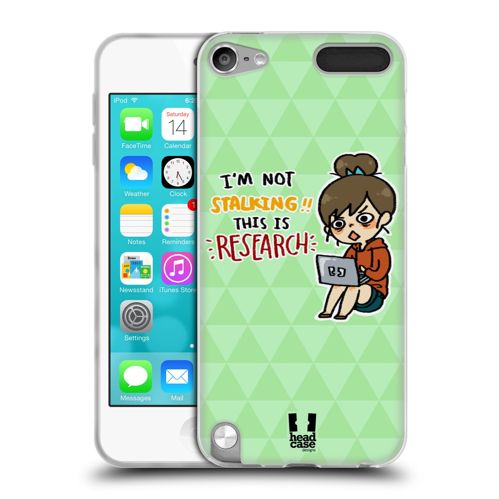 HEAD CASE LIFE OF A FAN GIRL SILICONE GEL CASE FOR APPLE ...