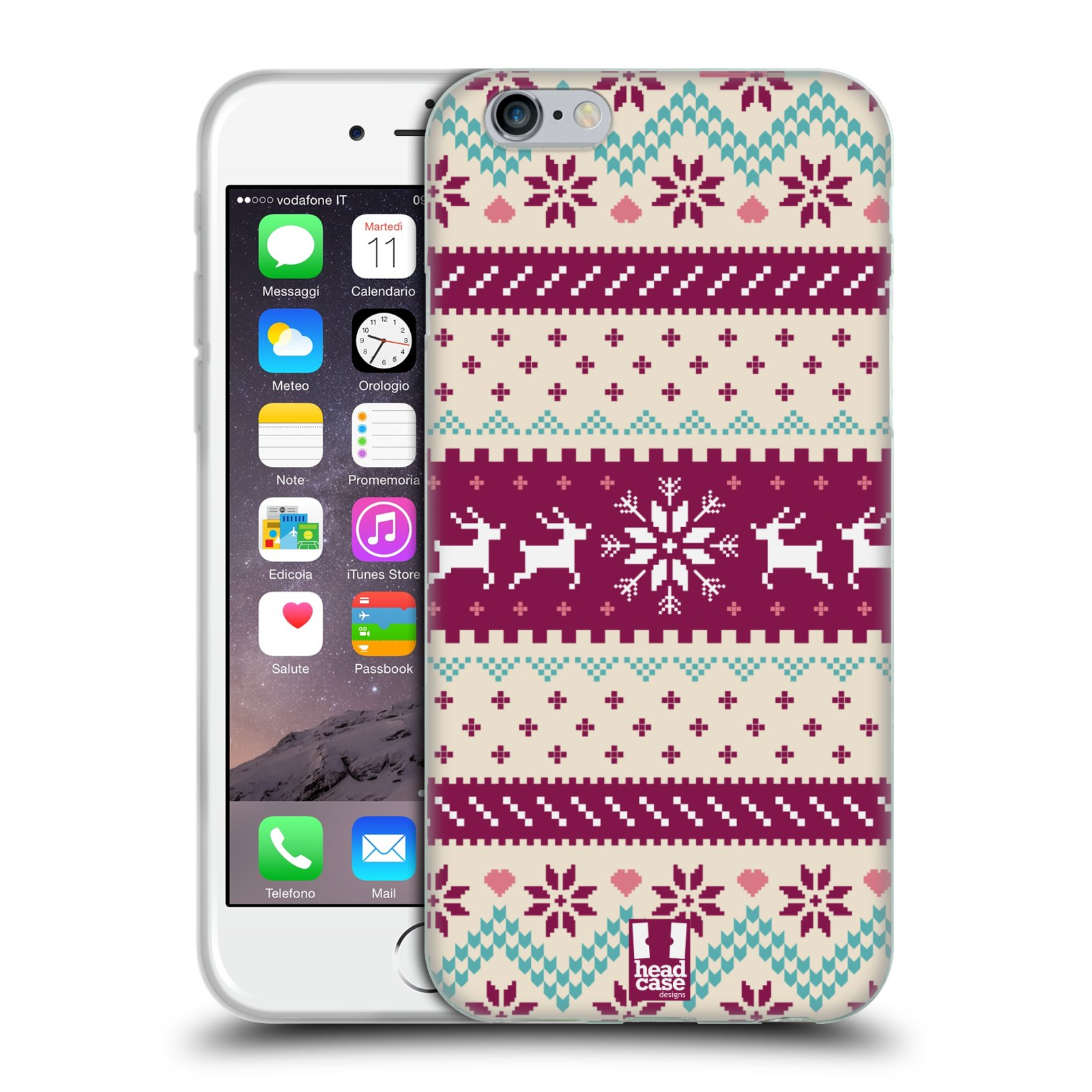 HEAD CASE FAIR ISLE WINTER PRINTS SOFT GEL CASE FOR APPLE iPHONE 6S