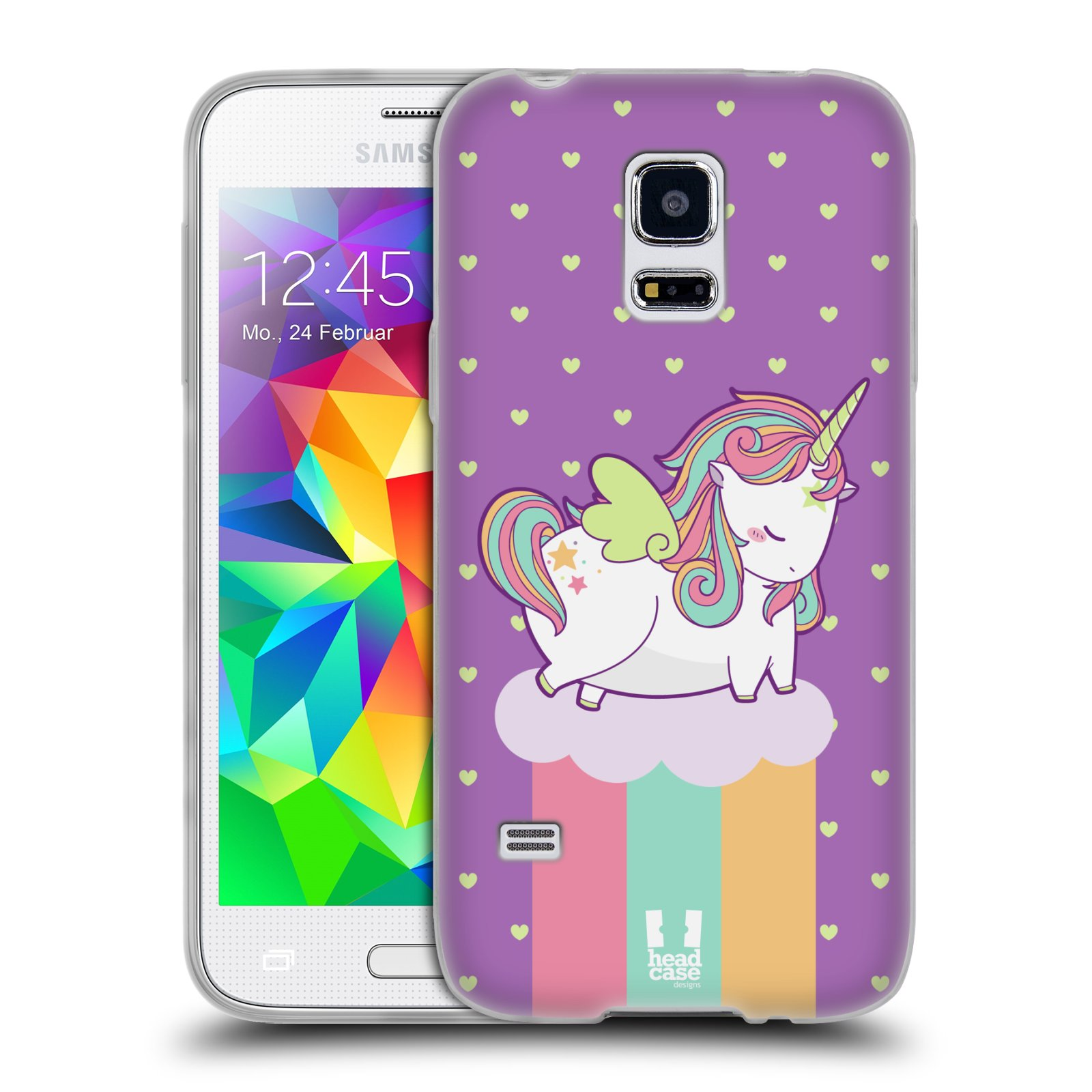 Head case unicorn chubby silicone gel case for samsung for Housse samsung galaxy s5