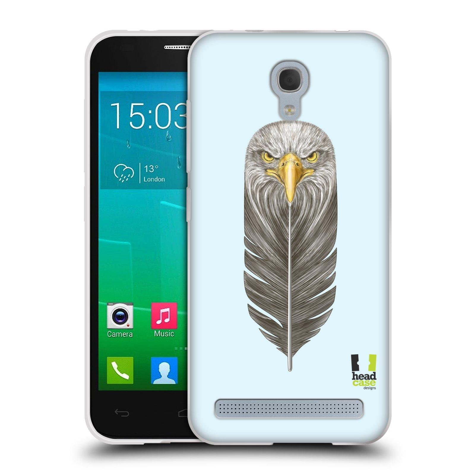 HEAD CASE silikonový obal na mobil Alcatel Idol 2 MINI S 6036Y vzor zvířecí pírka orel