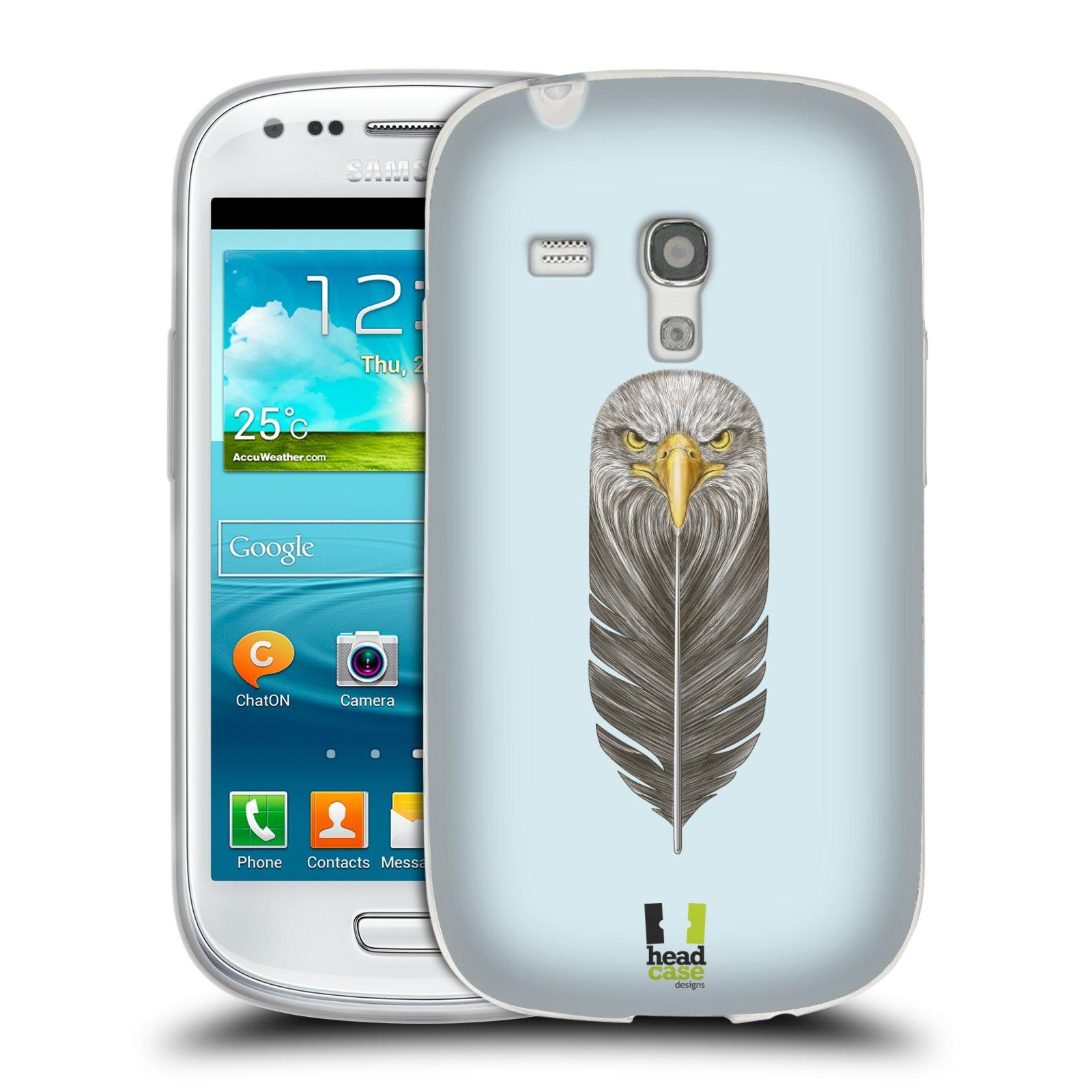 HEAD CASE silikonový obal na mobil Samsung Galaxy S3 MINI i8190 vzor zvířecí pírka orel