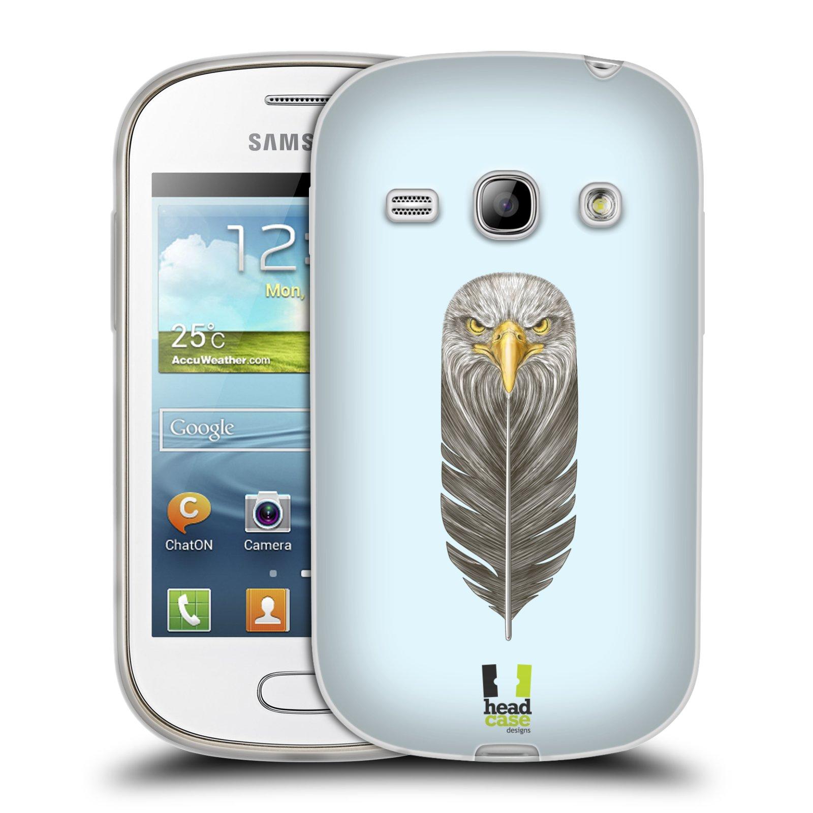 HEAD CASE silikonový obal na mobil Samsung Galaxy FAME vzor zvířecí pírka orel