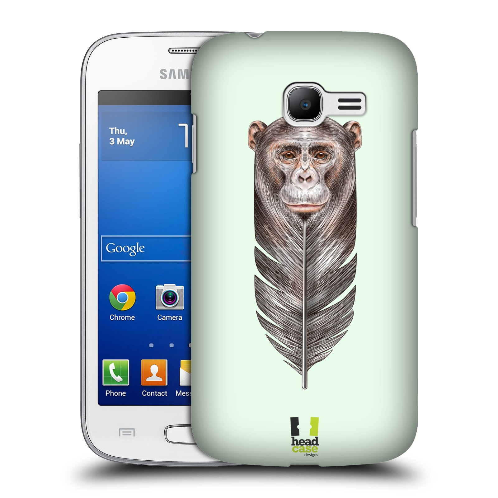 HEAD CASE plastový obal na mobil SAMSUNG GALAXY Star Pro S7260/S7262 DUOS vzor zvířecí opice