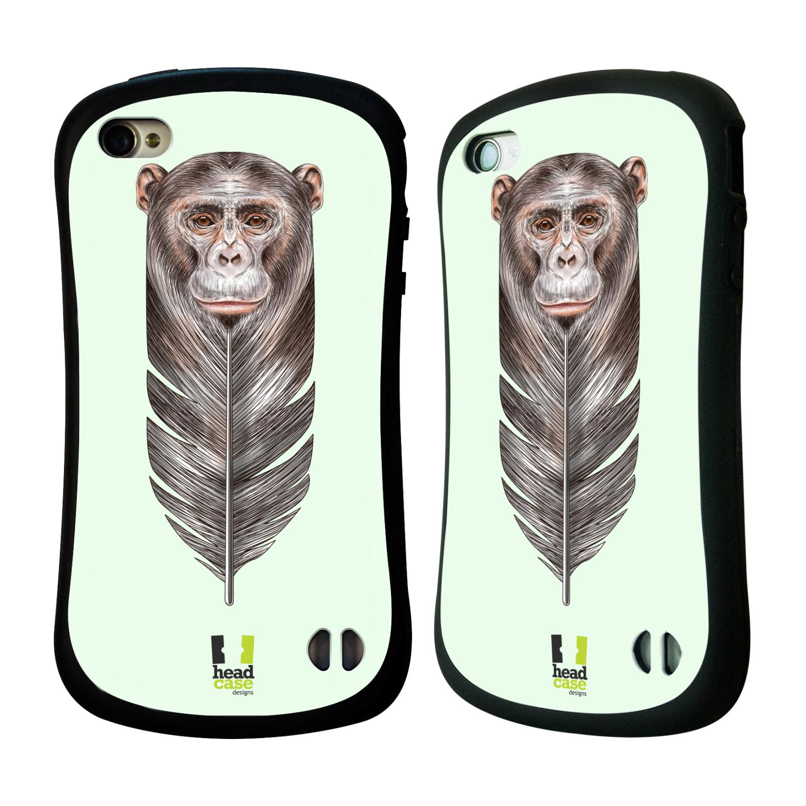 HEAD CASE silikon/plast odolný obal na mobil Apple Iphone 4/4S vzor zvířecí opice