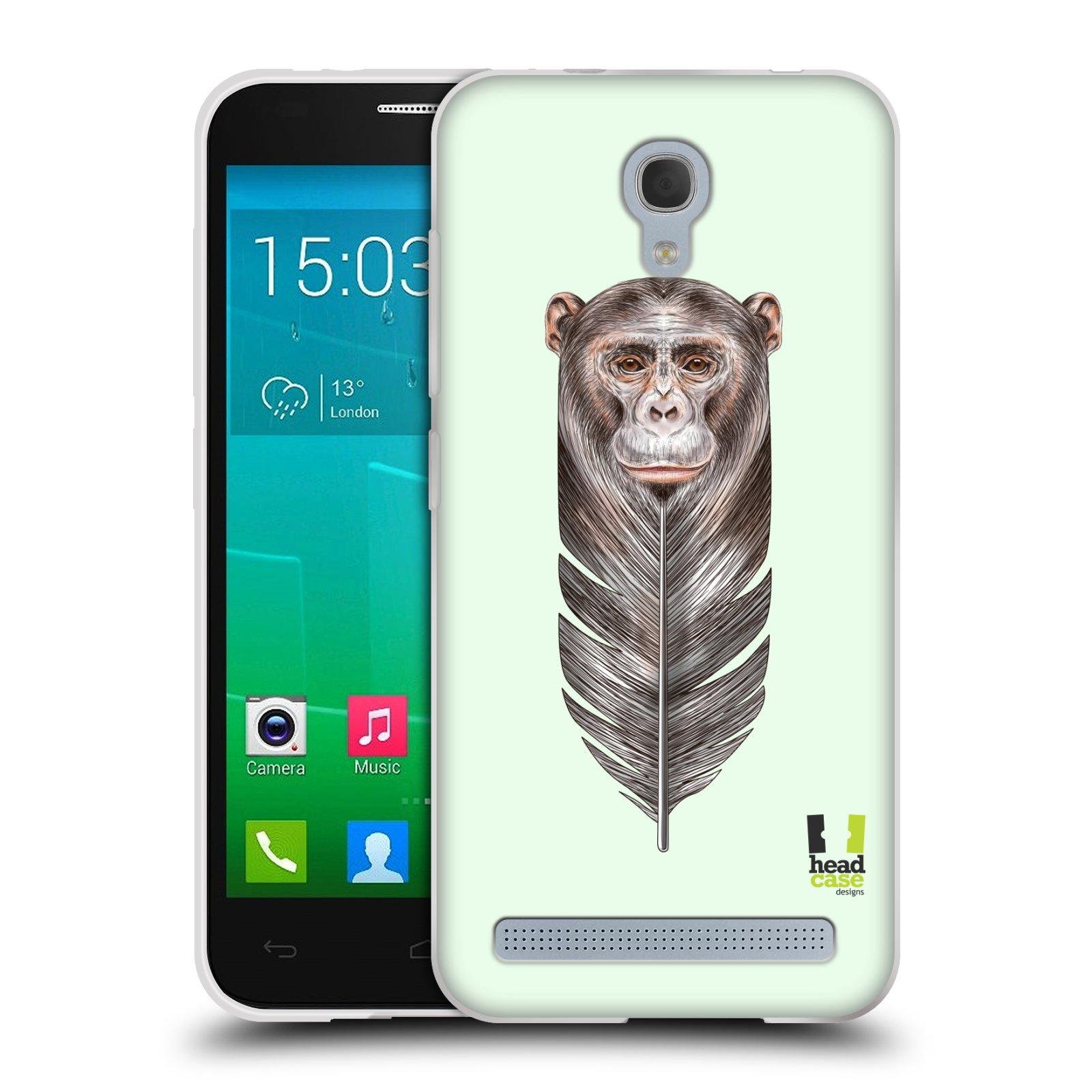HEAD CASE silikonový obal na mobil Alcatel Idol 2 MINI S 6036Y vzor zvířecí opice