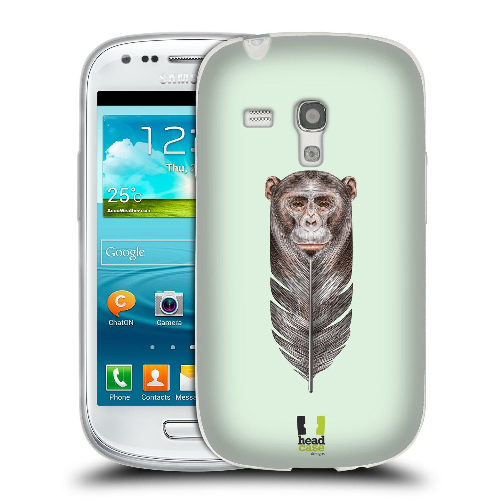 HEAD CASE silikonový obal na mobil Samsung Galaxy S3 MINI i8190 vzor zvířecí opice