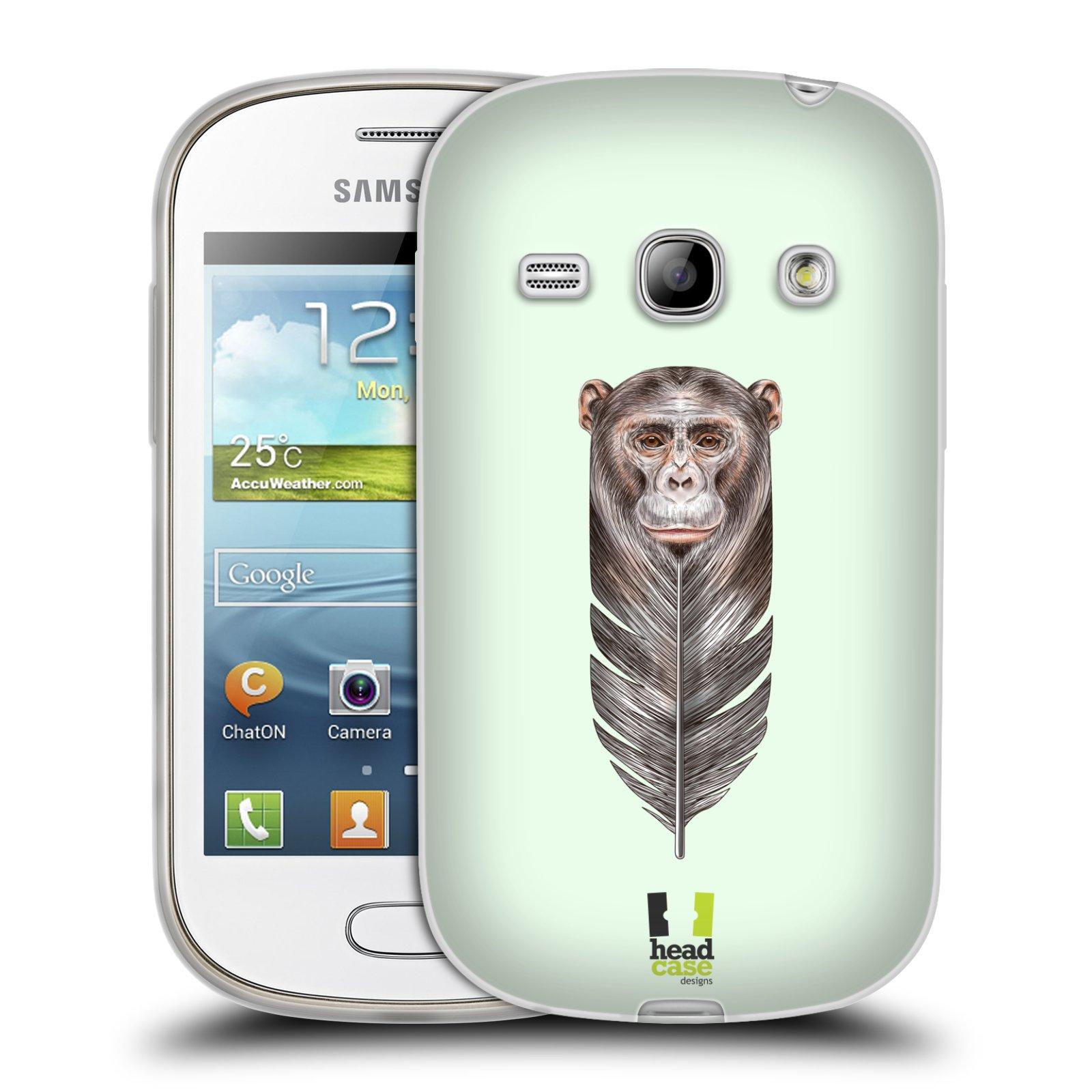 HEAD CASE silikonový obal na mobil Samsung Galaxy FAME vzor zvířecí opice