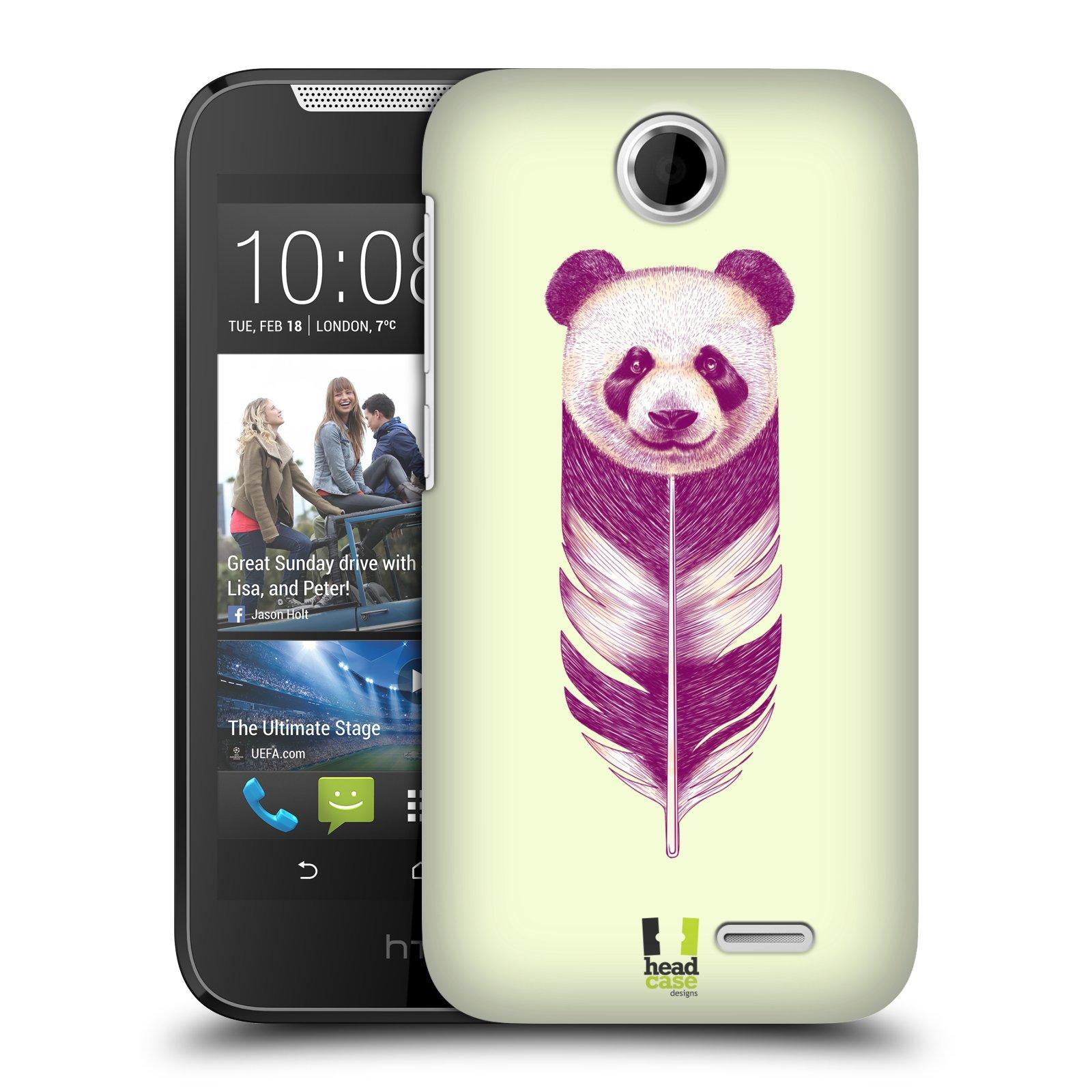 HEAD CASE plastový obal na mobil HTC Desire 310 vzor zvířecí pírka panda