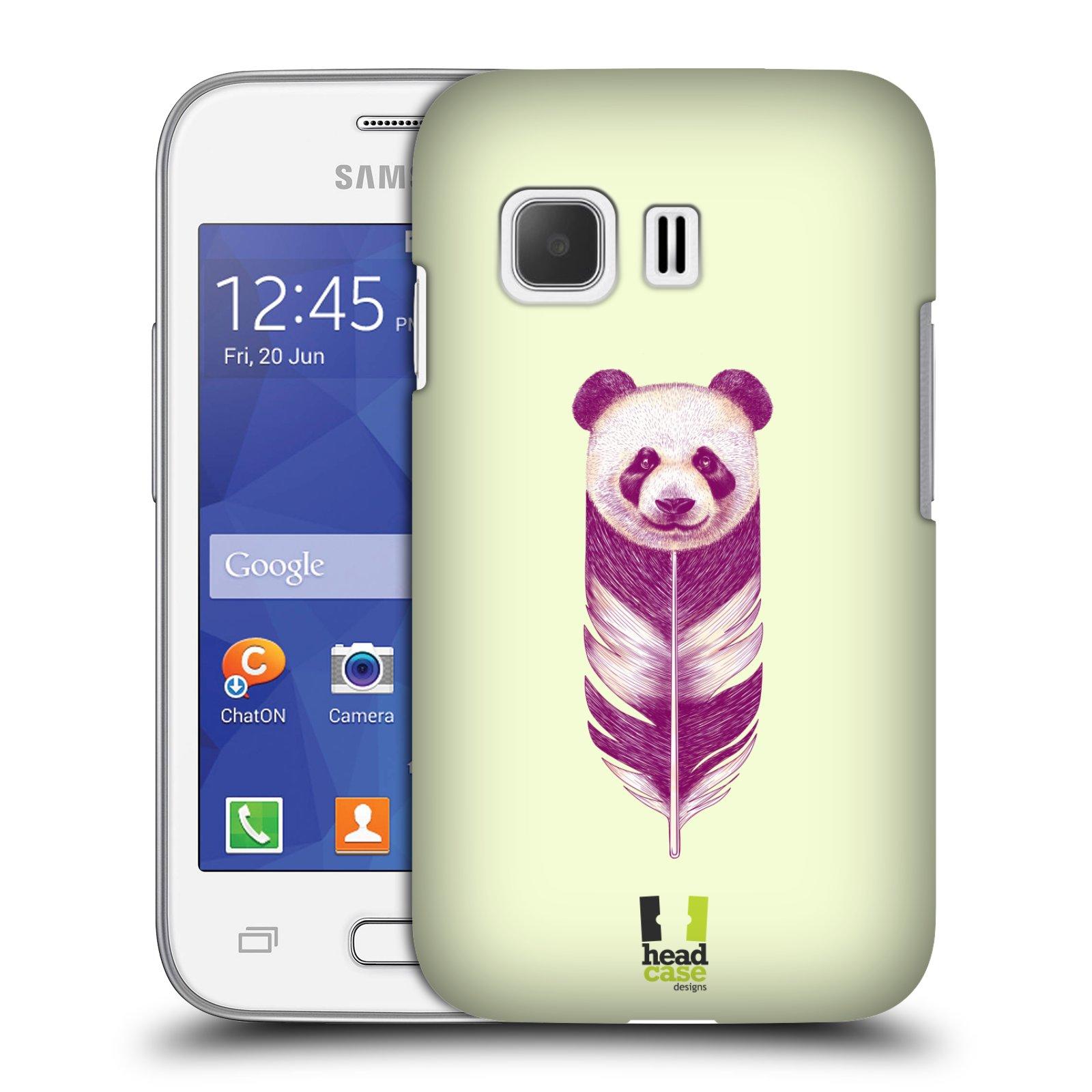 HEAD CASE plastový obal na mobil SAMSUNG Galaxy Young 2 (G130) vzor zvířecí pírka panda