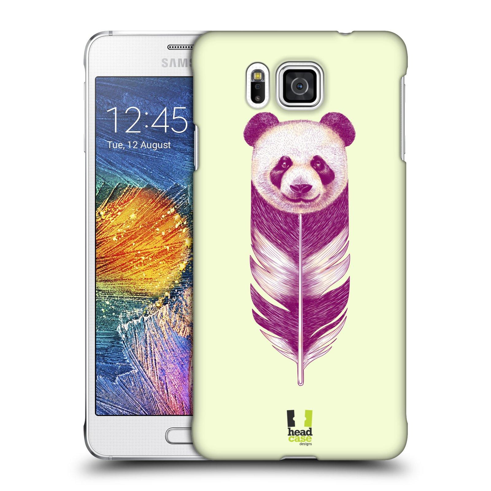 HEAD CASE plastový obal na mobil SAMSUNG Galaxy Alpha (G850) vzor zvířecí pírka panda
