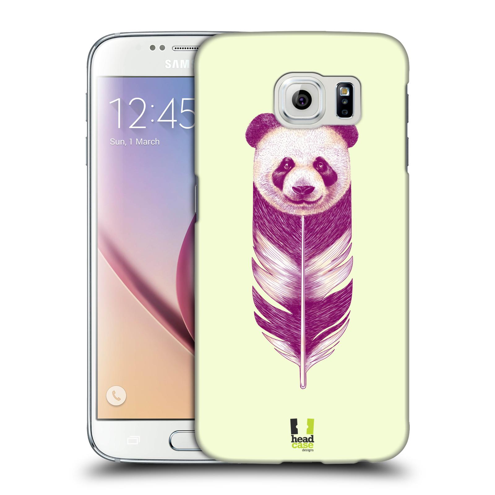 HEAD CASE plastový obal na mobil SAMSUNG Galaxy S6 (G9200, G920F) vzor zvířecí pírka panda