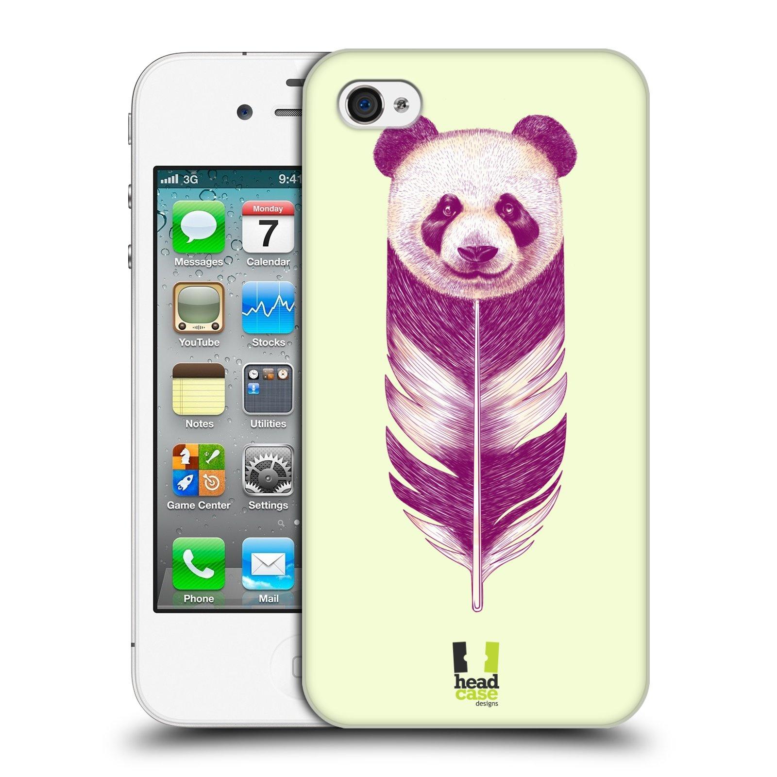 HEAD CASE plastový obal na mobil Apple Iphone 4/4S vzor zvířecí pírka panda