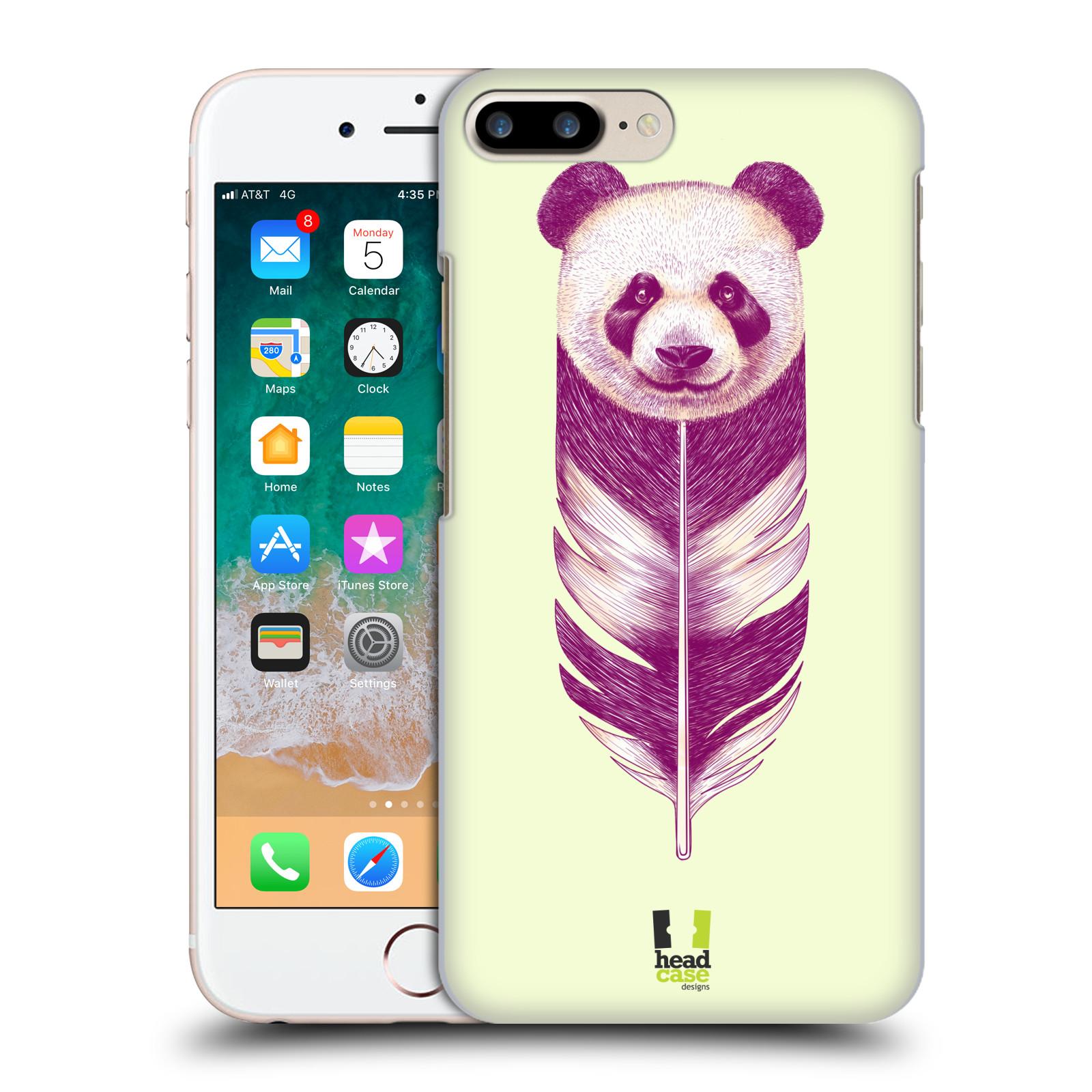 HEAD CASE plastový obal na mobil Apple Iphone 7 PLUS vzor zvířecí pírka panda