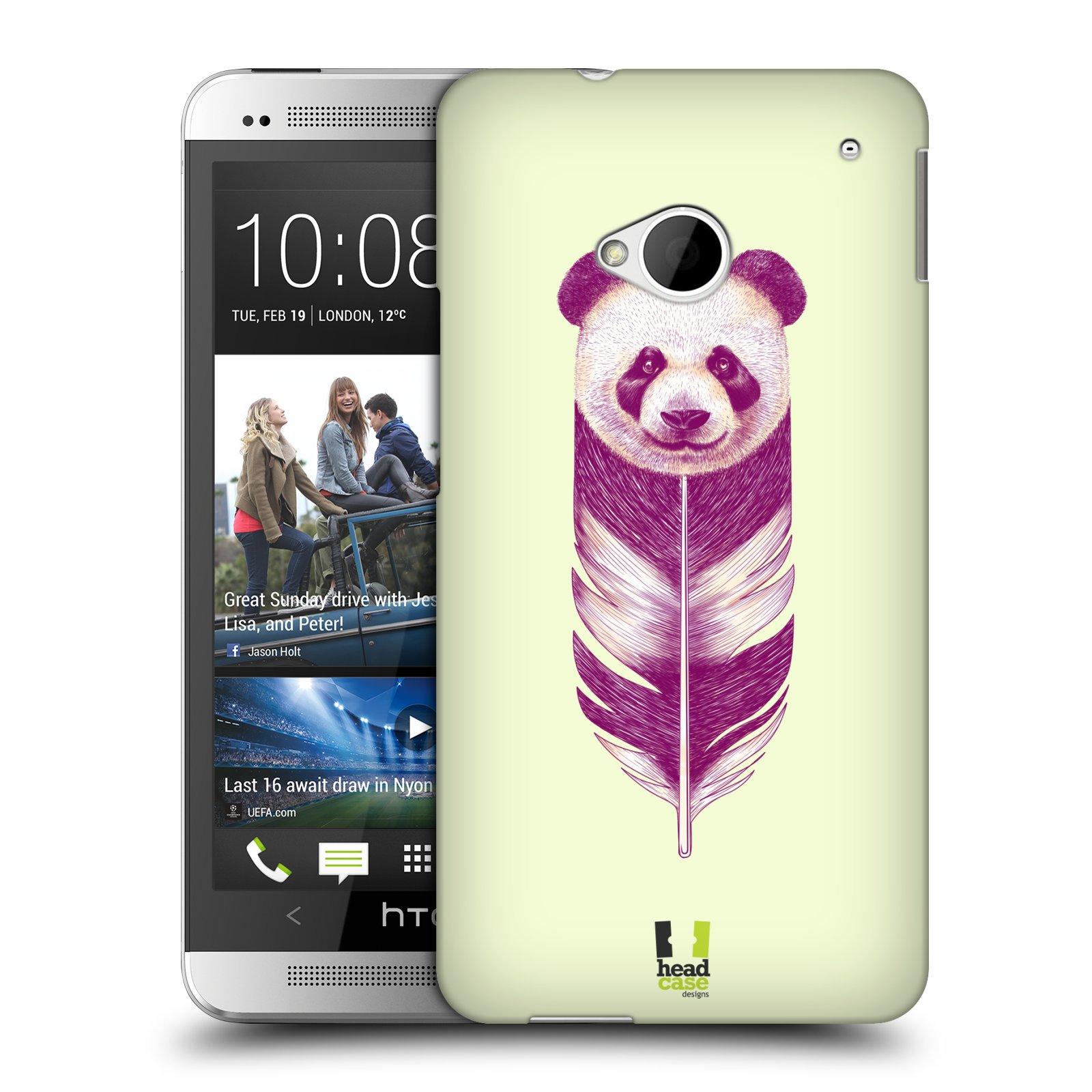 HEAD CASE plastový obal na mobil HTC One (M7) vzor zvířecí pírka panda