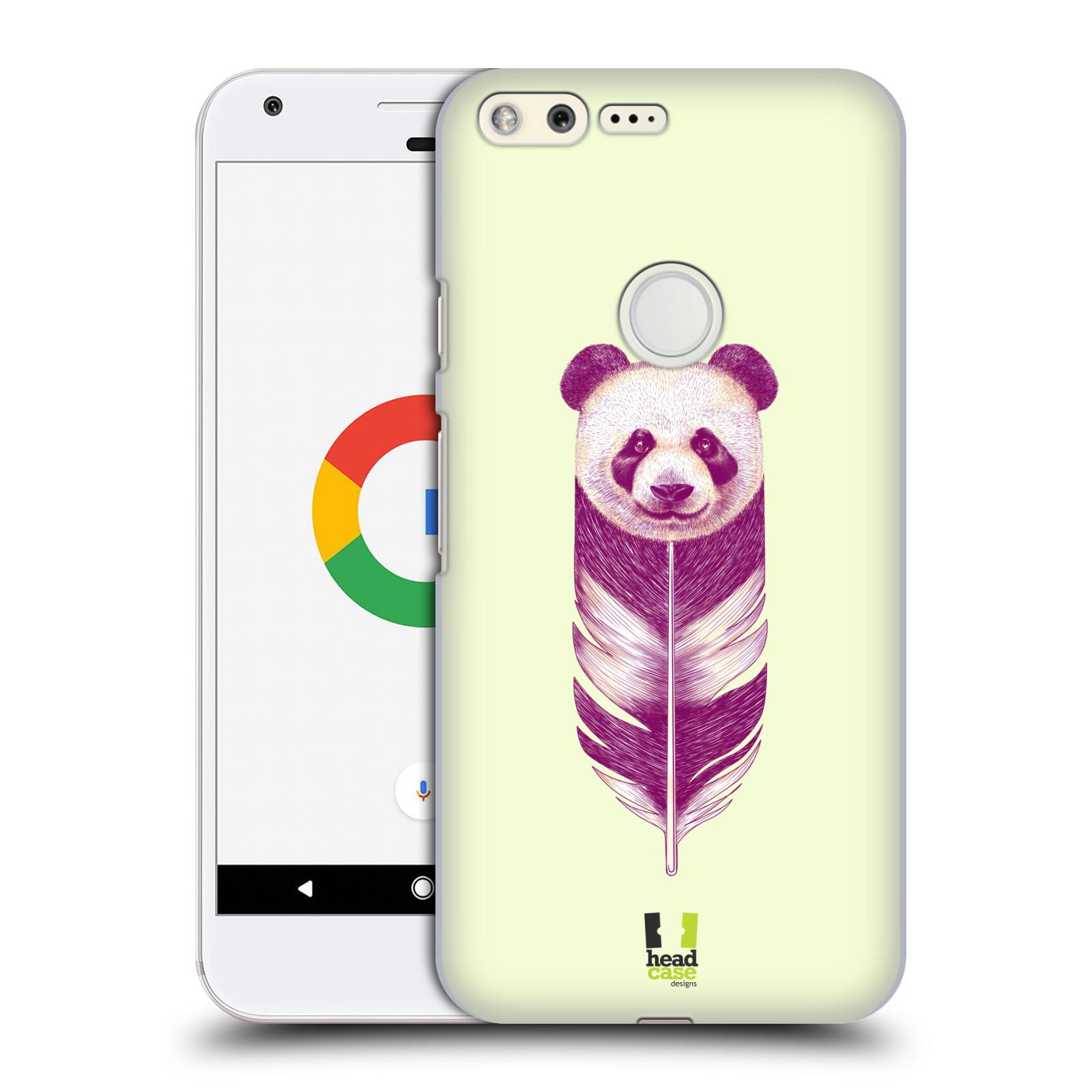 HEAD CASE plastový obal na mobil GOOGLE Pixel vzor zvířecí pírka panda