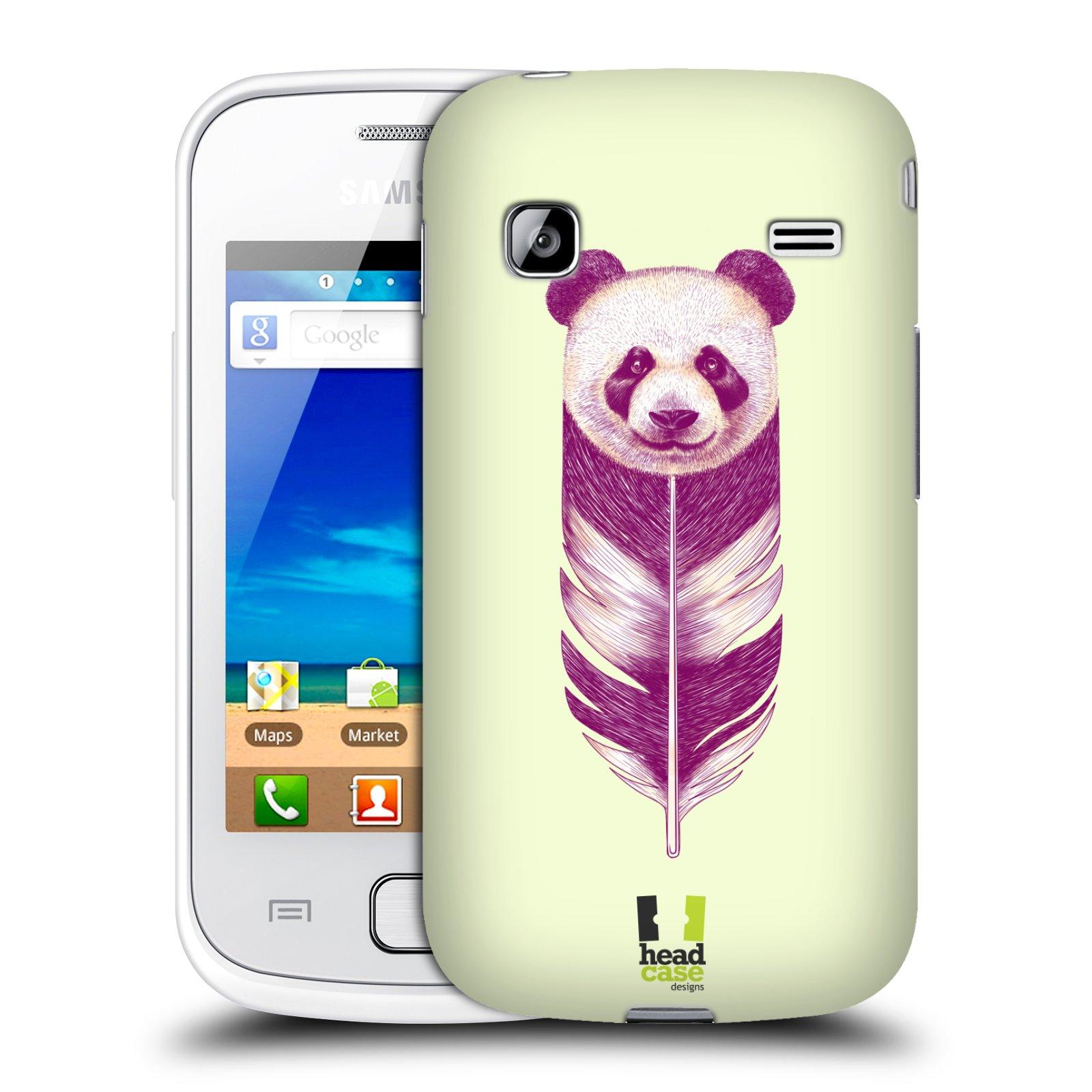 HEAD CASE plastový obal na mobil SAMSUNG GALAXY GIO (S5660) vzor zvířecí pírka panda
