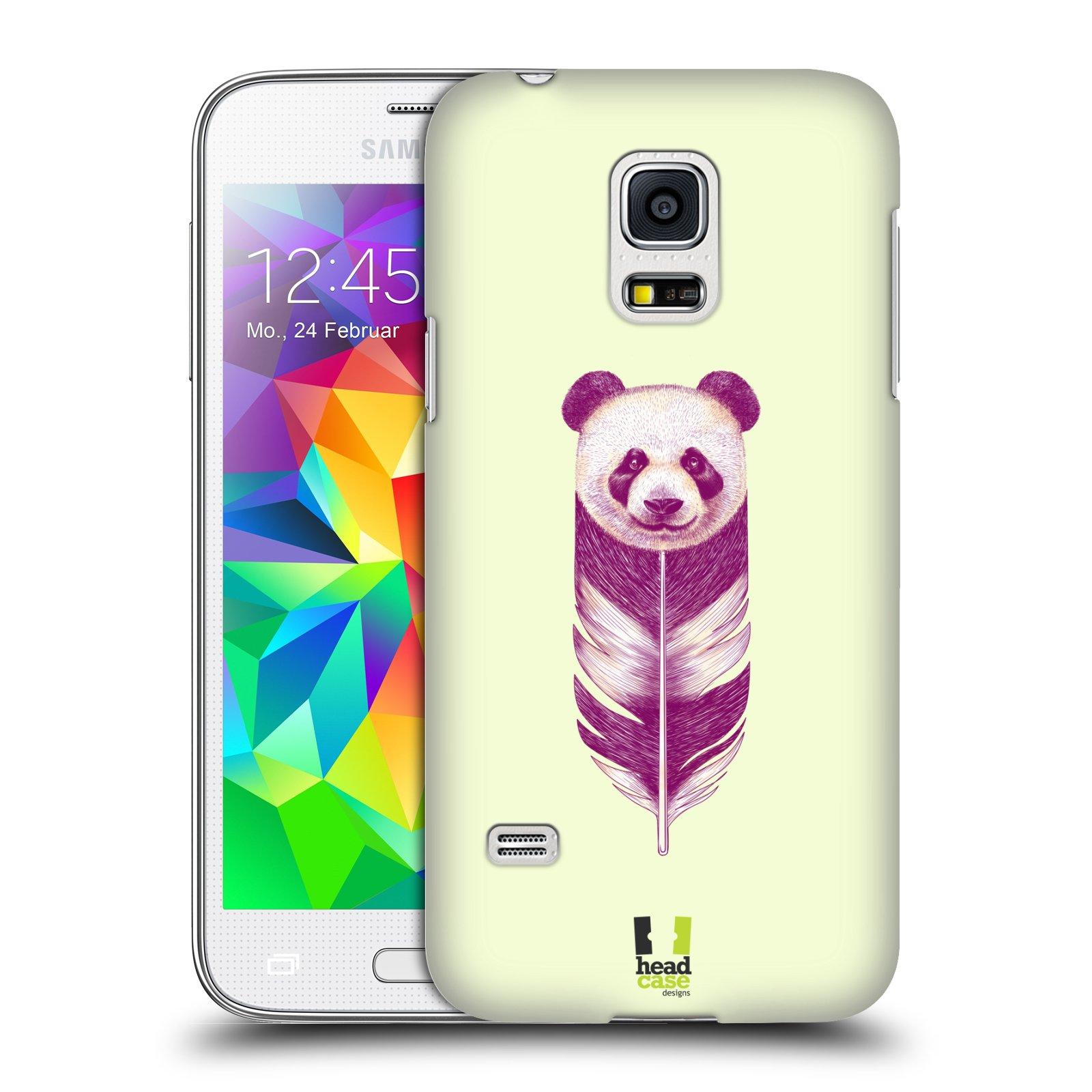 HEAD CASE plastový obal na mobil SAMSUNG Galaxy S5 MINI / S5 MINI DUOS vzor zvířecí pírka panda