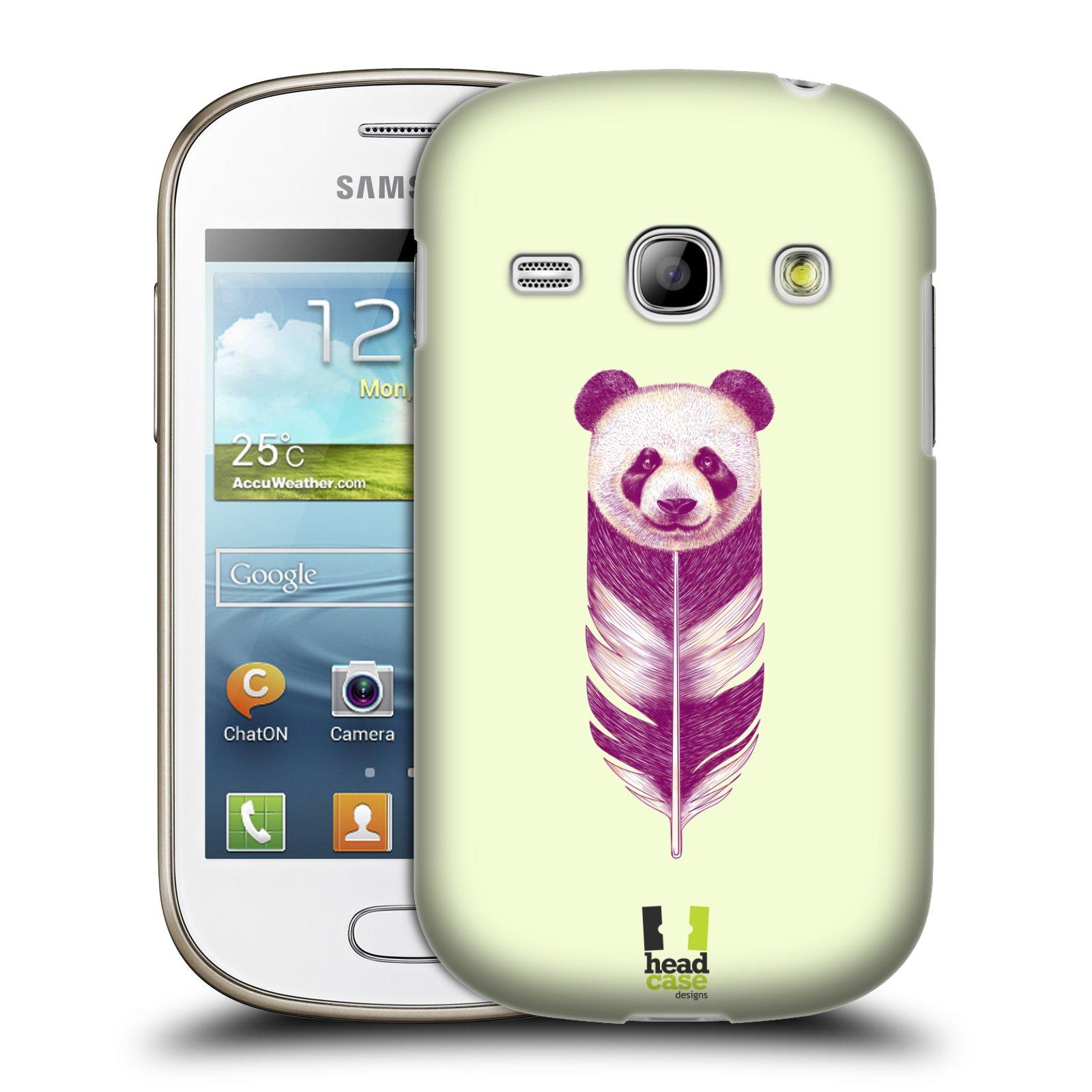 HEAD CASE plastový obal na mobil SAMSUNG GALAXY FAME (S6810) vzor zvířecí pírka panda