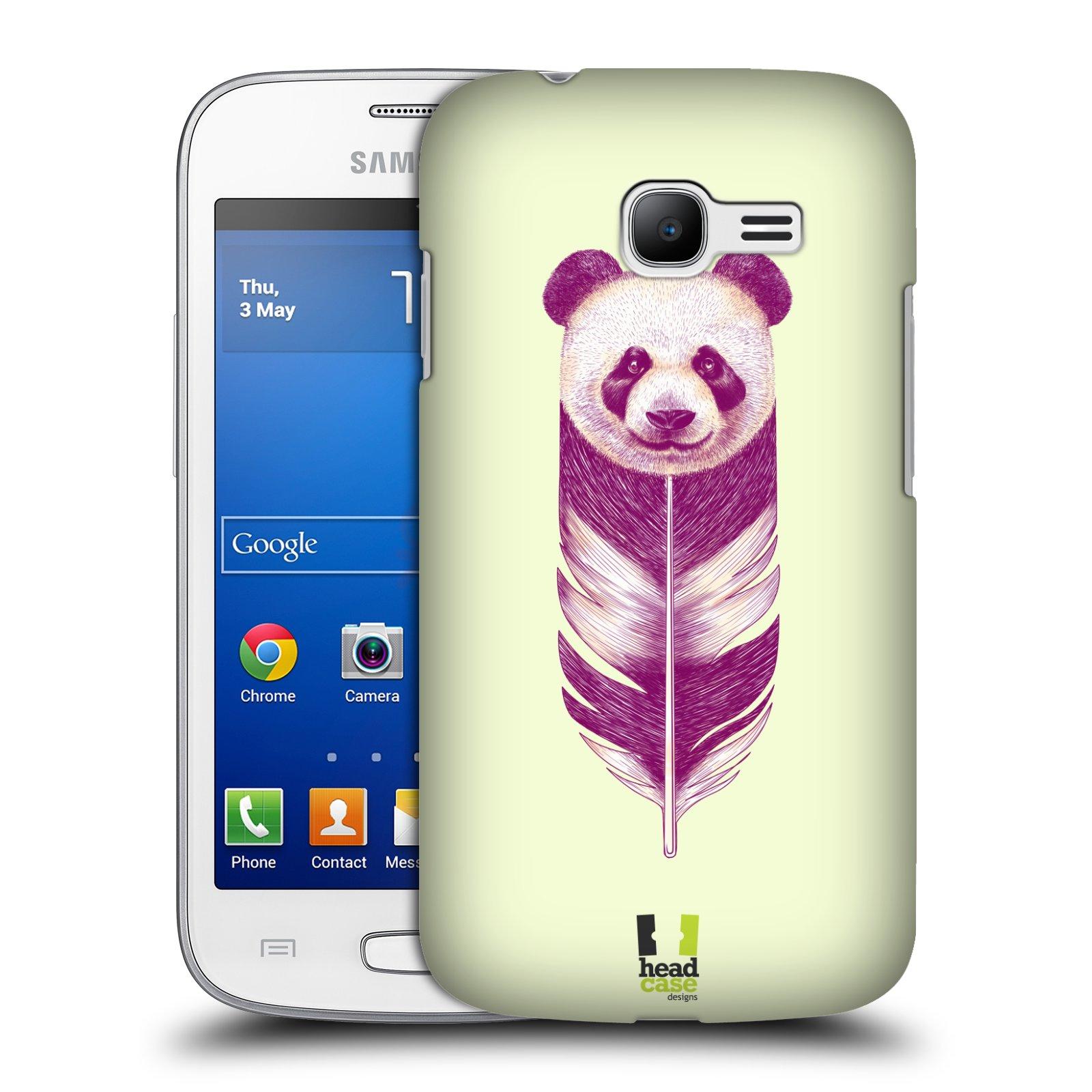HEAD CASE plastový obal na mobil SAMSUNG GALAXY Star Pro S7260/S7262 DUOS vzor zvířecí pírka panda