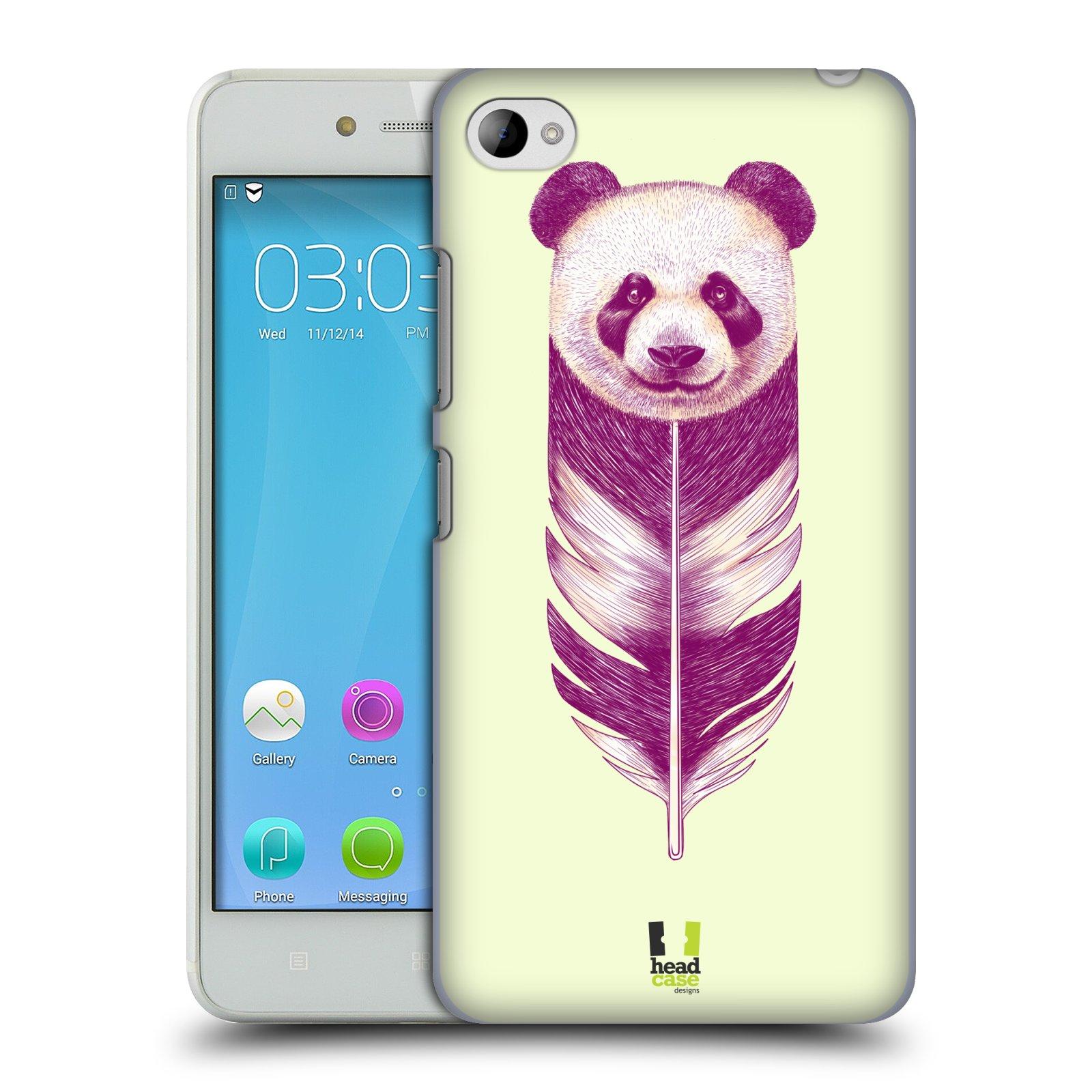 HEAD CASE pevný plastový obal na mobil LENOVO S90 vzor zvířecí pírka panda