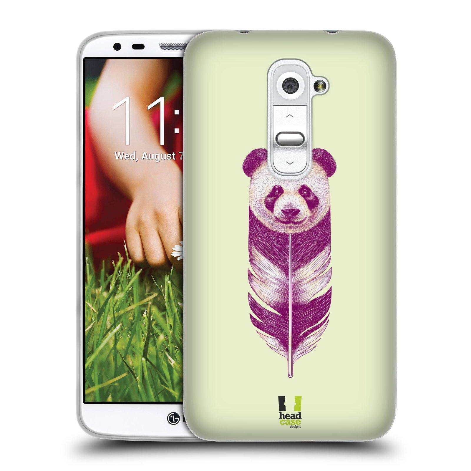 HEAD CASE silikonový obal na mobil LG G2 vzor zvířecí pírka panda