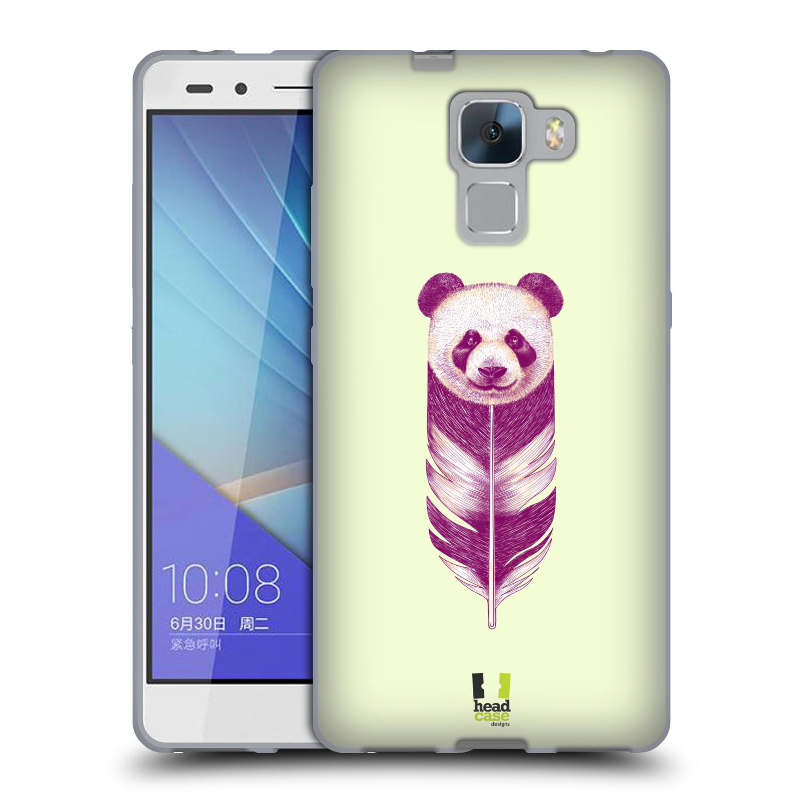 HEAD CASE silikonový obal na mobil HUAWEI HONOR 7 vzor zvířecí pírka panda  empty 3515a533e9e