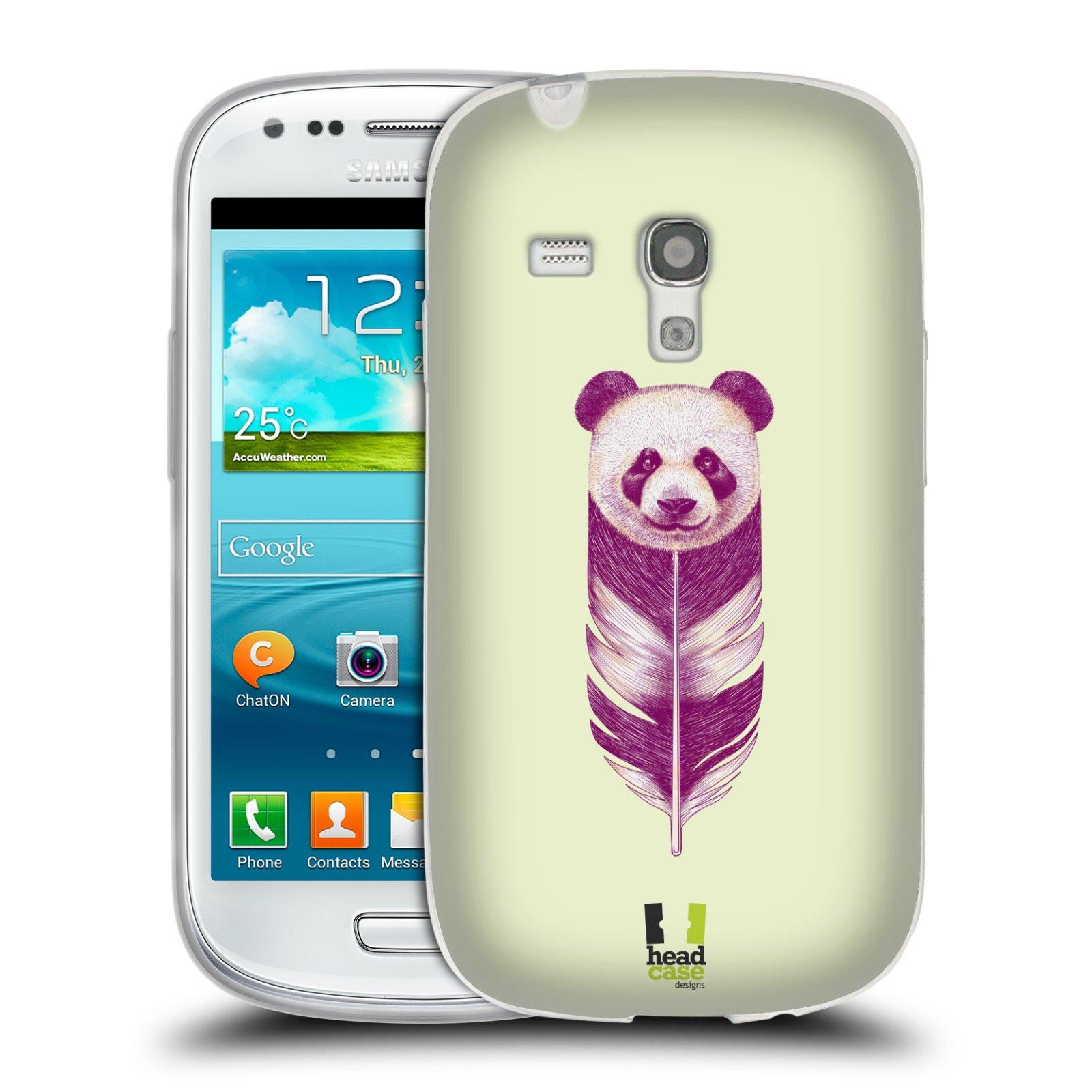 HEAD CASE silikonový obal na mobil Samsung Galaxy S3 MINI i8190 vzor zvířecí pírka panda