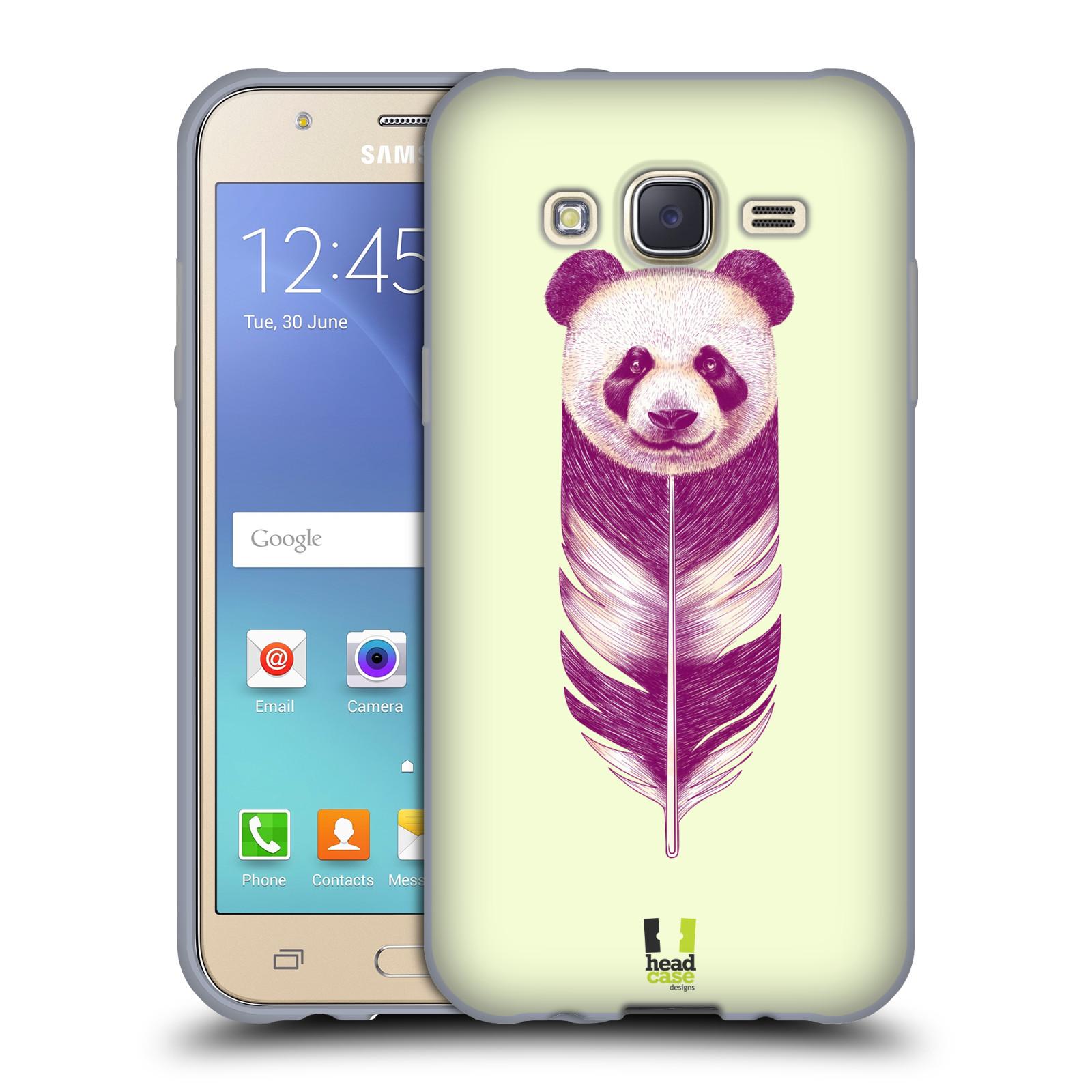 HEAD CASE silikonový obal na mobil Samsung Galaxy J5, J500, (J5 DUOS) vzor zvířecí pírka panda