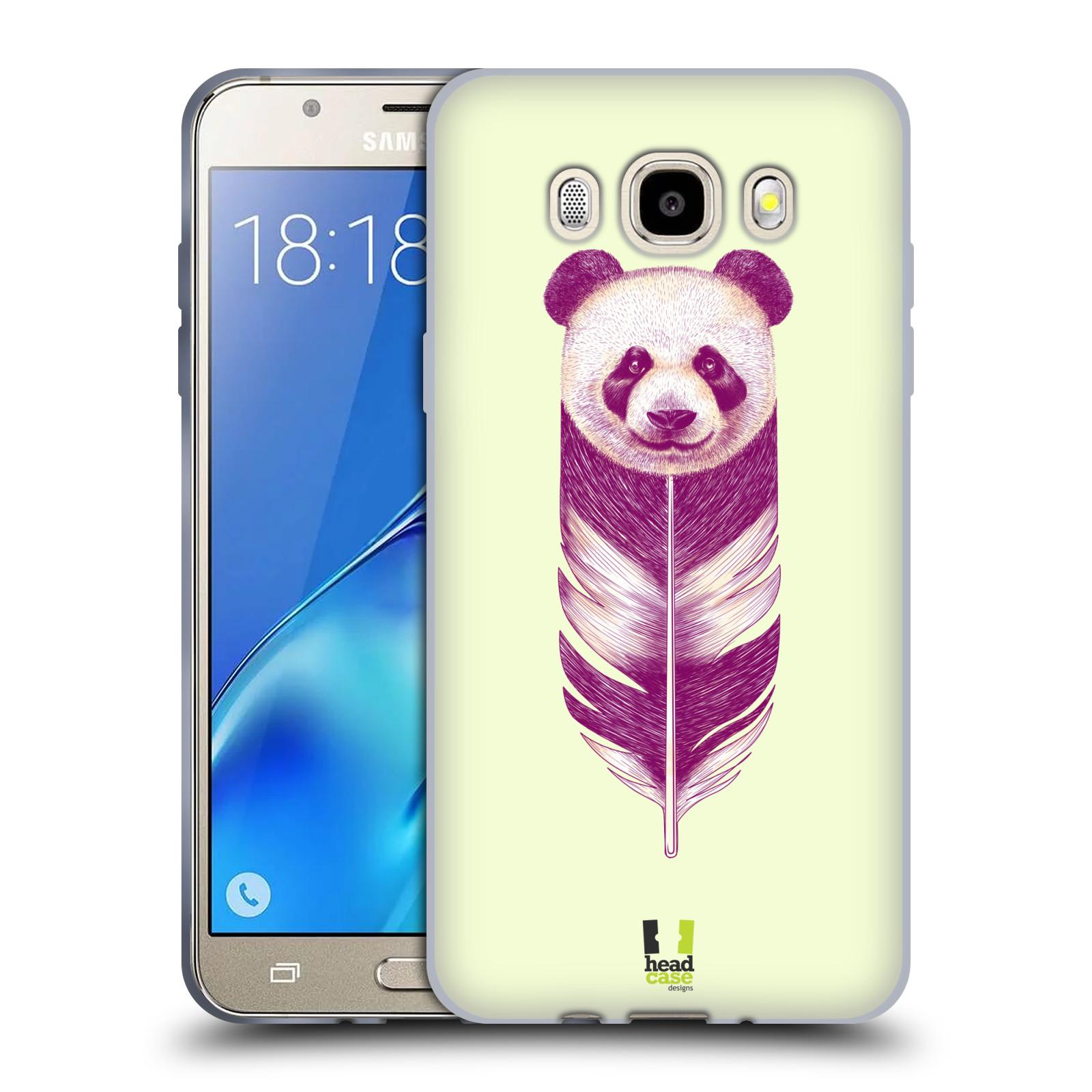HEAD CASE silikonový obal, kryt na mobil Samsung Galaxy J5 2016, J510, J510F, (J510F DUAL SIM) vzor zvířecí pírka panda