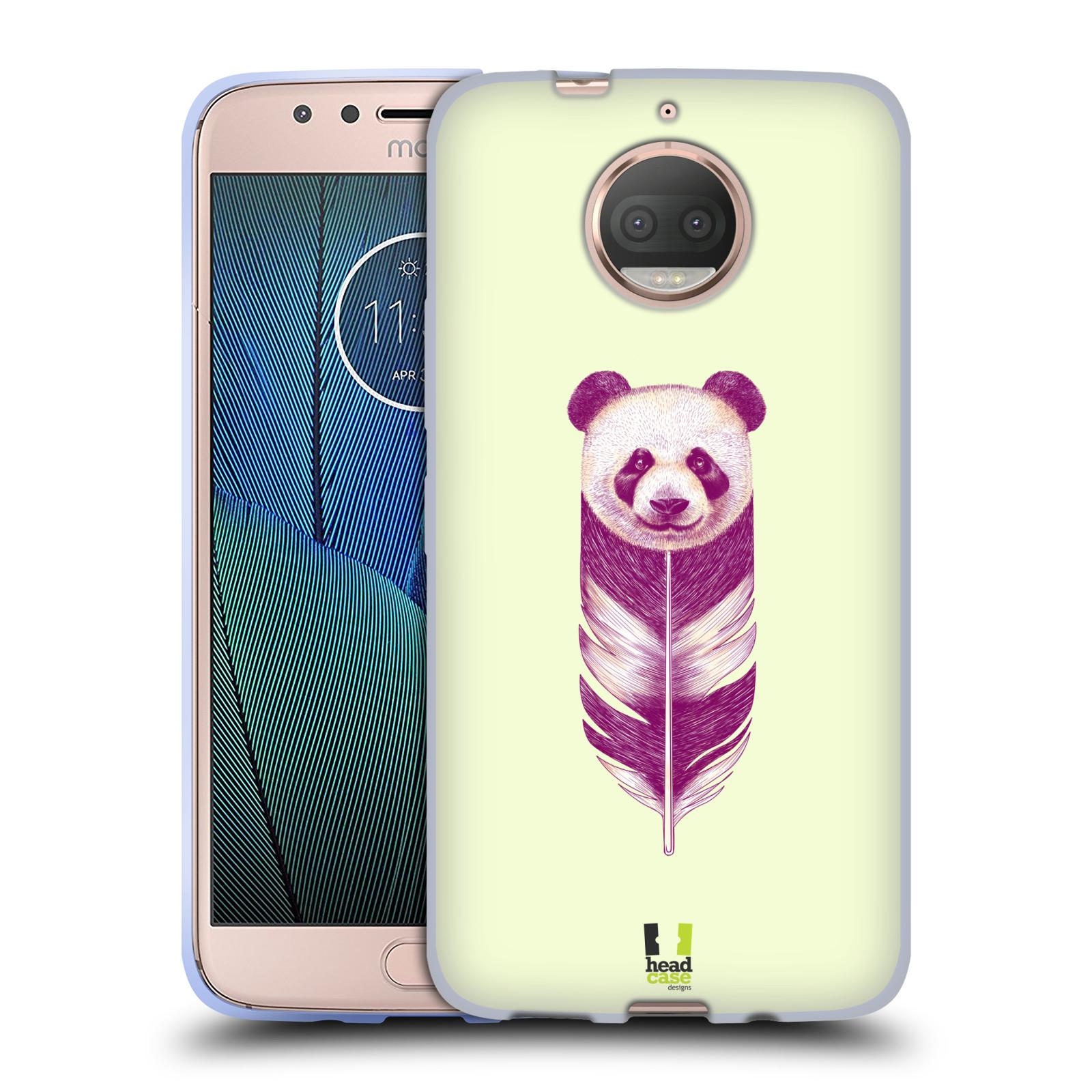 HEAD CASE silikonový obal na mobil Lenovo Moto G5s PLUS vzor zvířecí pírka panda