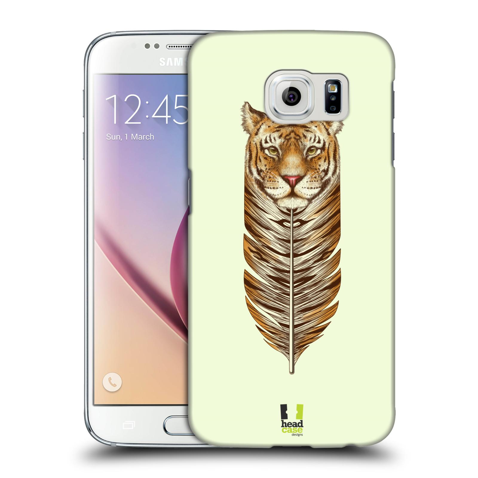 HEAD CASE plastový obal na mobil SAMSUNG Galaxy S6 (G9200, G920F) vzor zvířecí pírka tygr