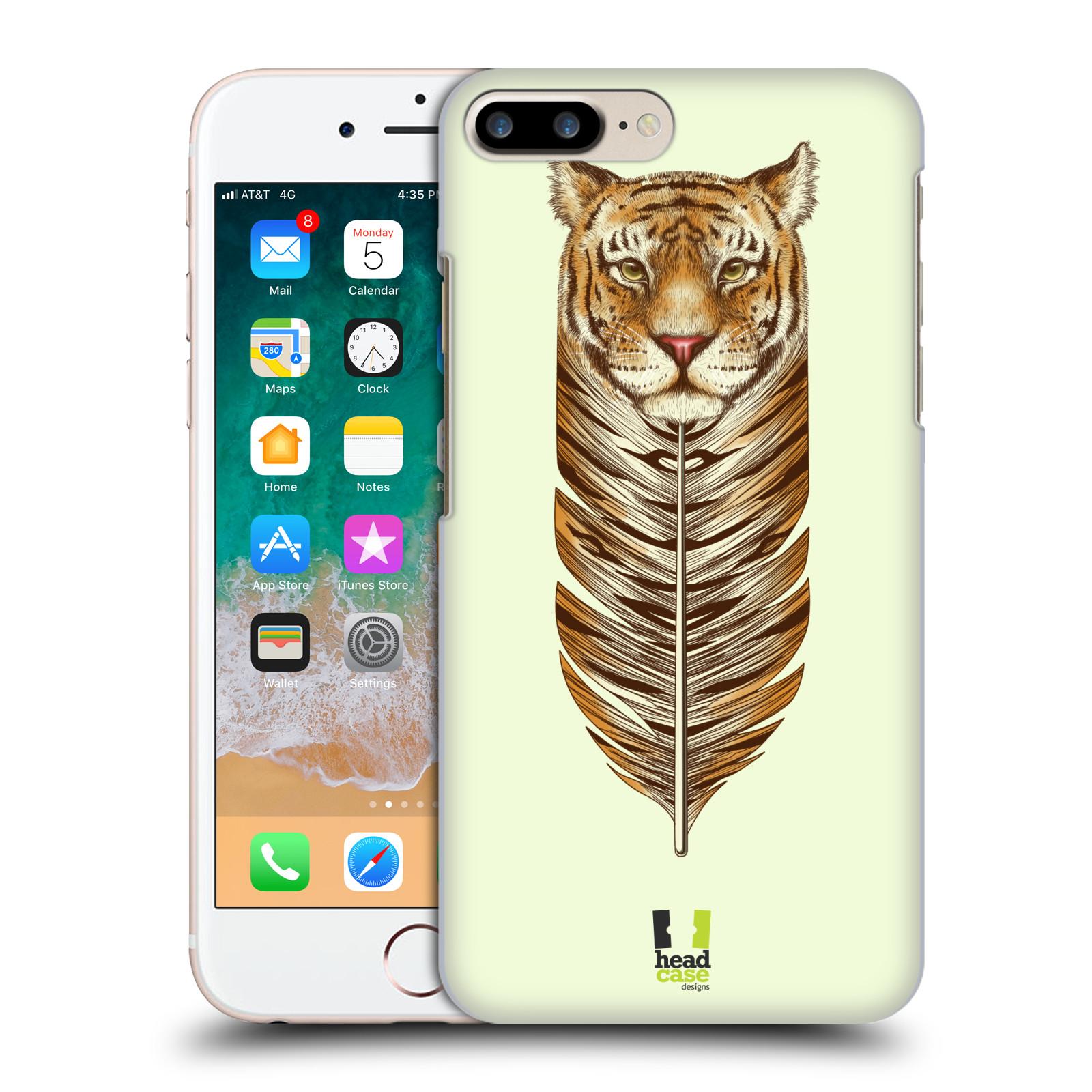 HEAD CASE plastový obal na mobil Apple Iphone 7 PLUS vzor zvířecí pírka tygr