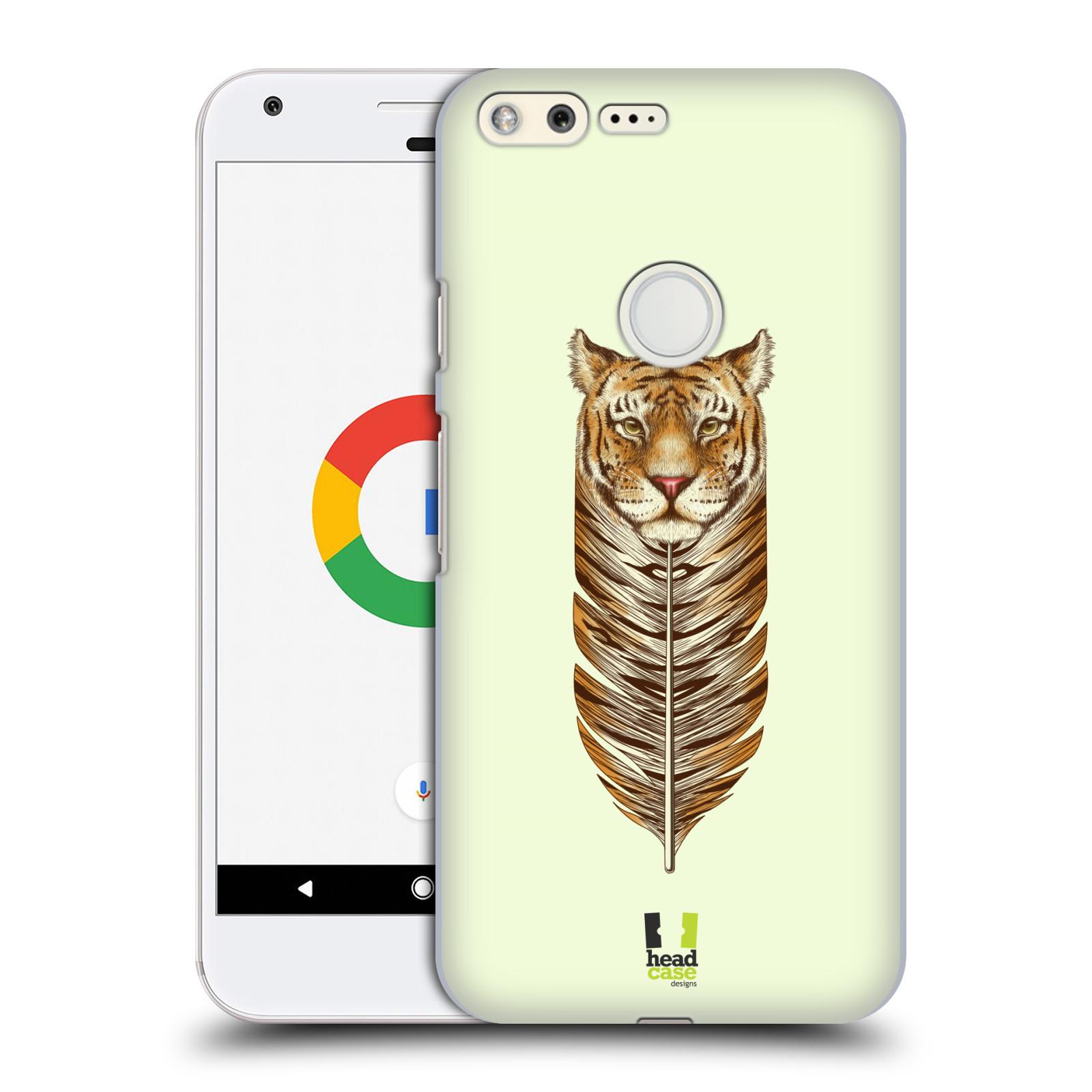 HEAD CASE plastový obal na mobil GOOGLE Pixel vzor zvířecí pírka tygr