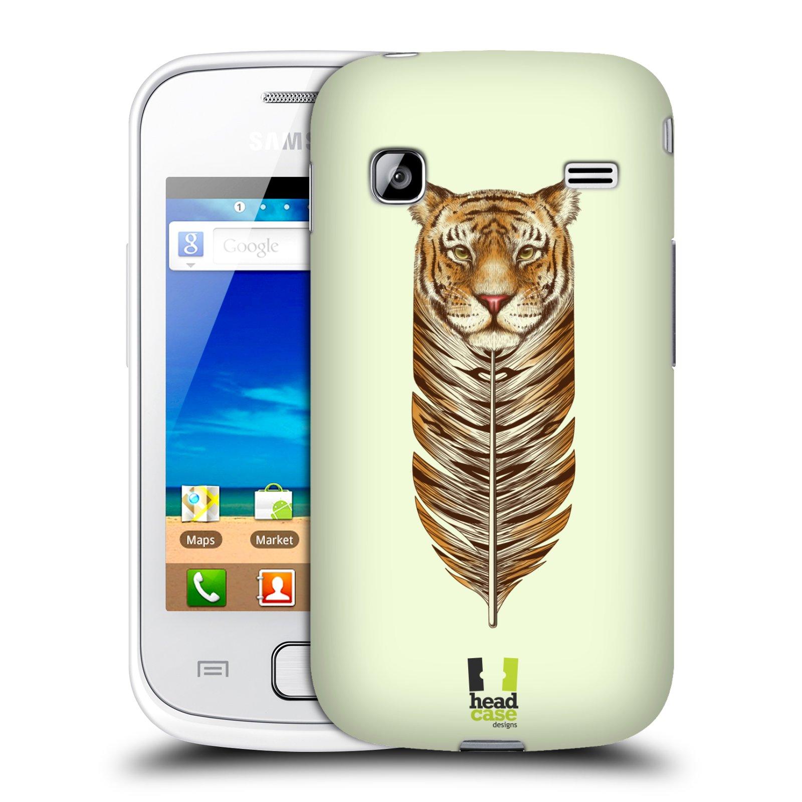 HEAD CASE plastový obal na mobil SAMSUNG GALAXY GIO (S5660) vzor zvířecí pírka tygr