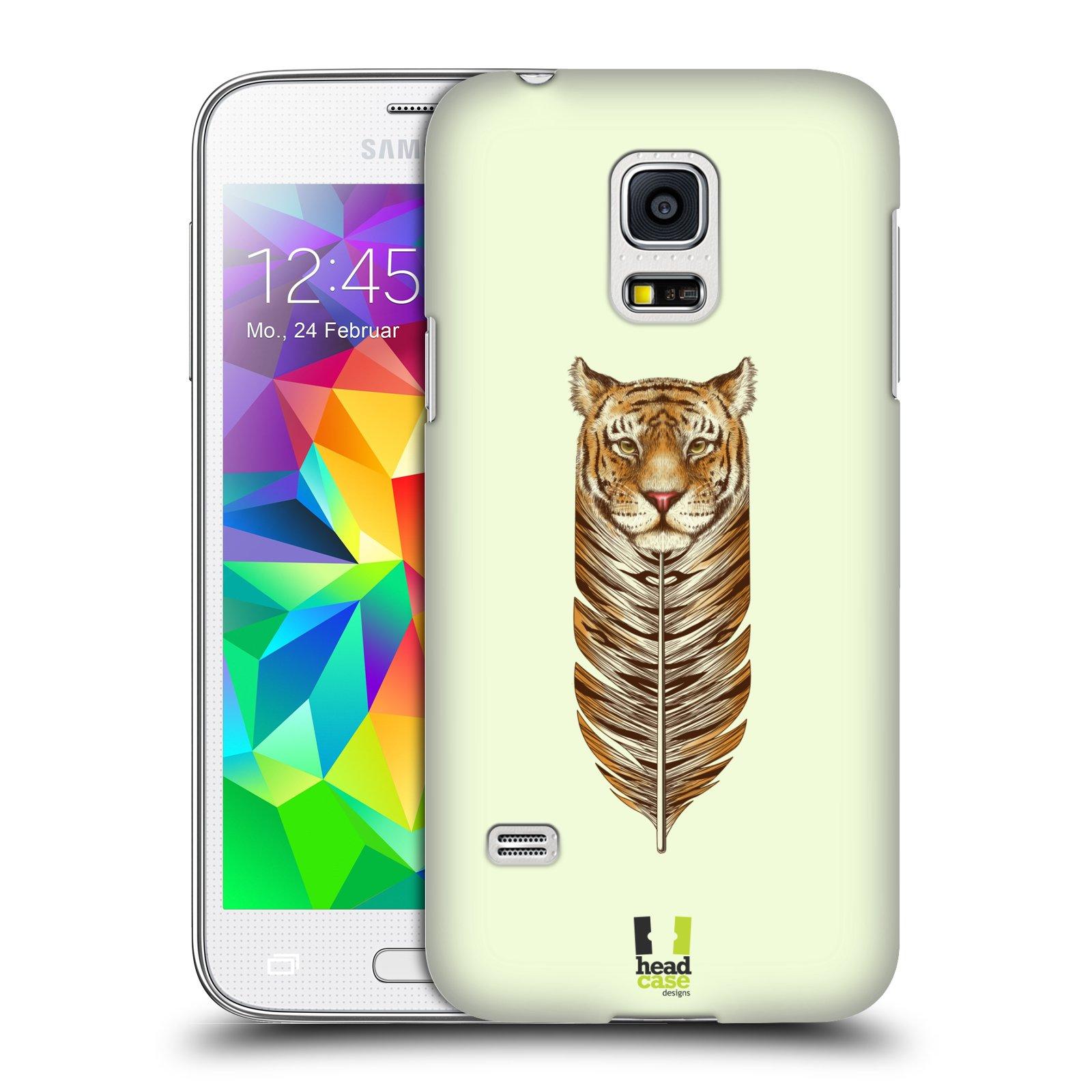 HEAD CASE plastový obal na mobil SAMSUNG Galaxy S5 MINI / S5 MINI DUOS vzor zvířecí pírka tygr