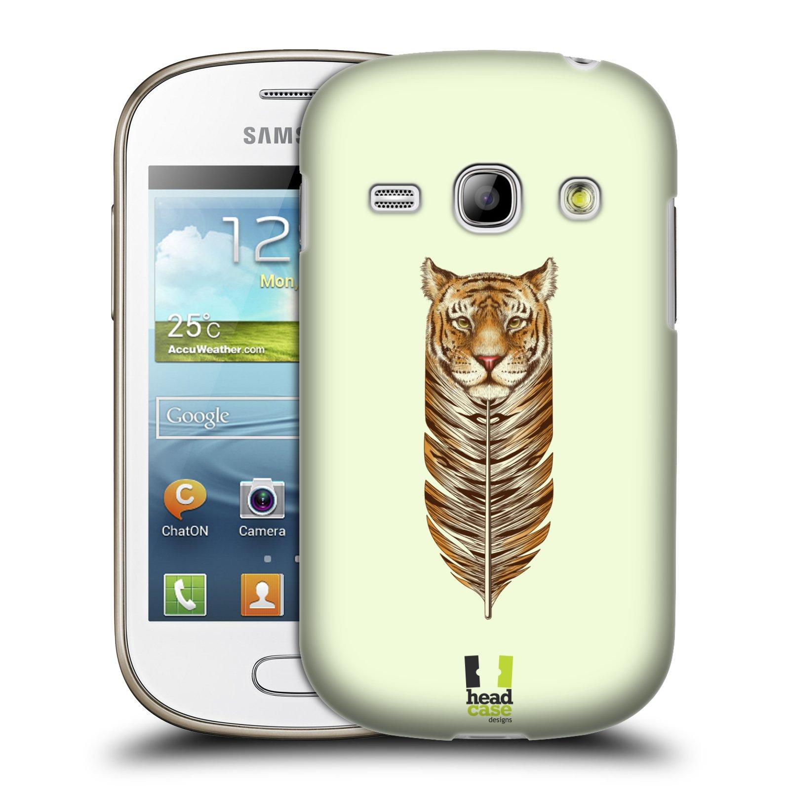 HEAD CASE plastový obal na mobil SAMSUNG GALAXY FAME (S6810) vzor zvířecí pírka tygr