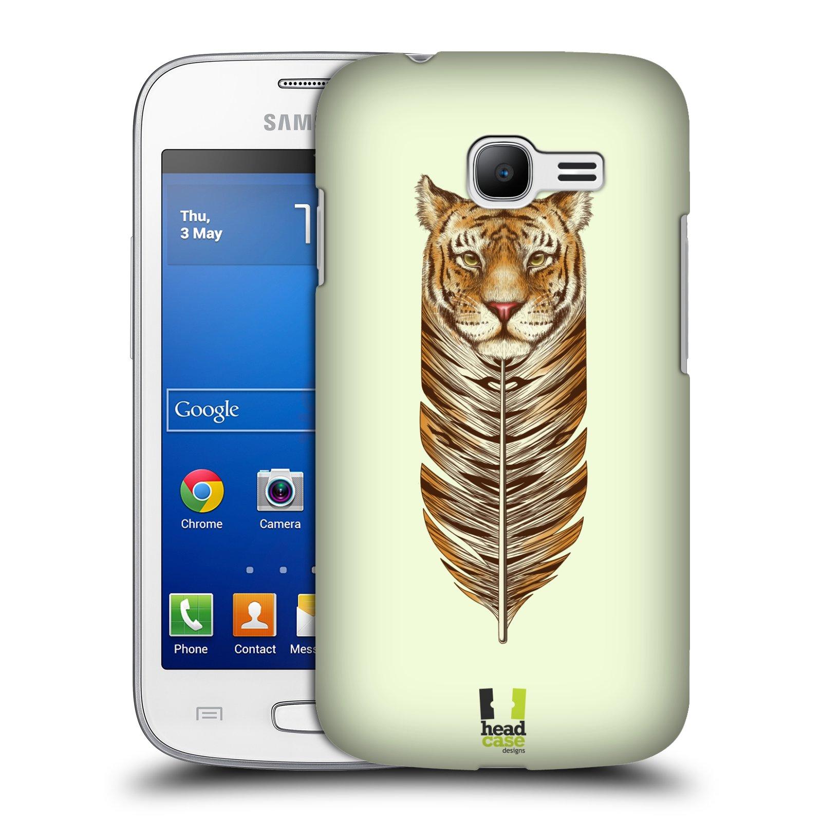 HEAD CASE plastový obal na mobil SAMSUNG GALAXY Star Pro S7260/S7262 DUOS vzor zvířecí pírka tygr