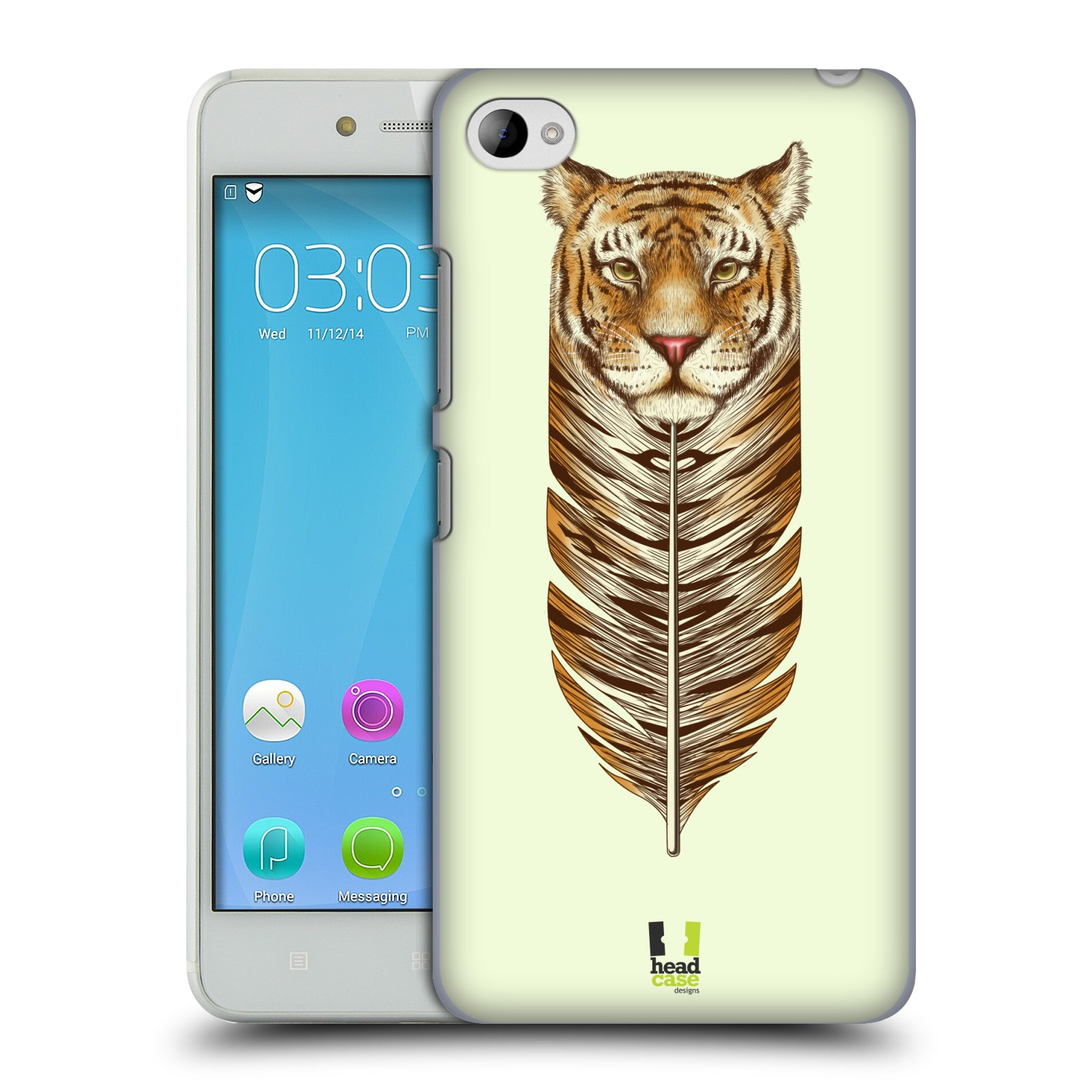 HEAD CASE pevný plastový obal na mobil LENOVO S90 vzor zvířecí pírka tygr