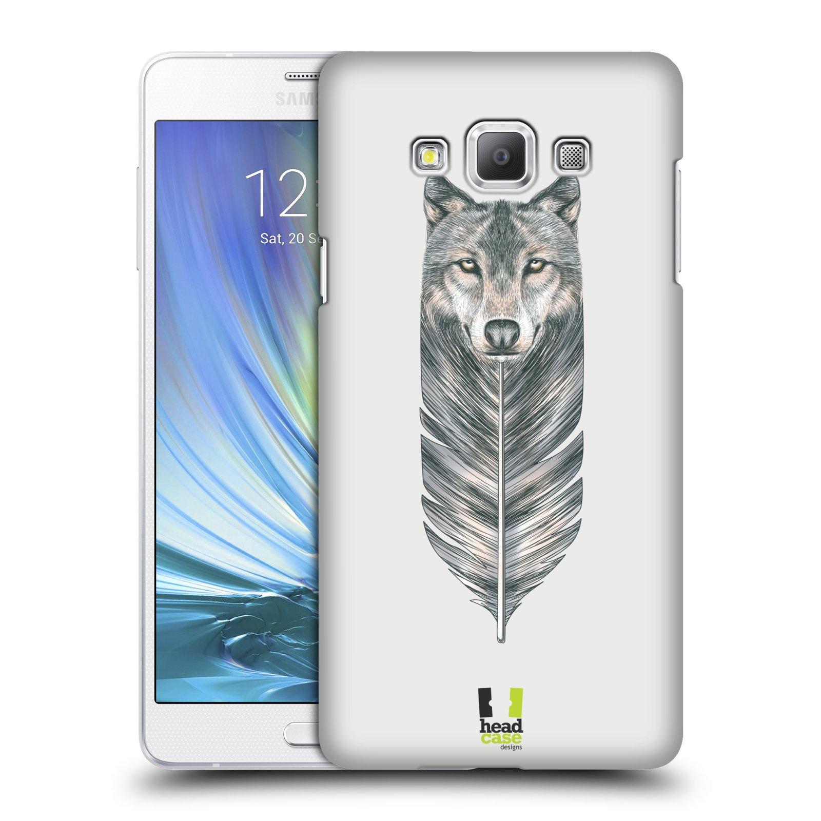 HEAD CASE plastový obal na mobil SAMSUNG GALAXY A7 vzor zvířecí pírka vlk