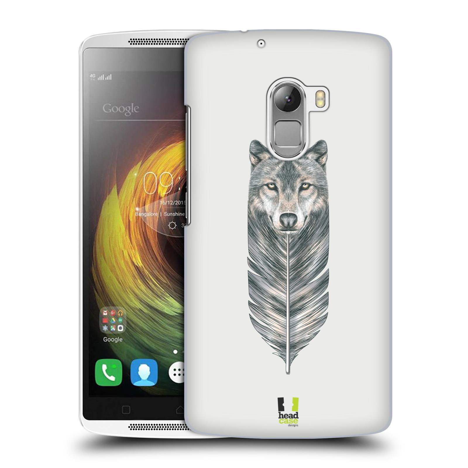 HEAD CASE pevný plastový obal na mobil LENOVO A7010 / A7010 DUAL / K4 Note / Vibe X3 lite vzor zvířecí pírka vlk