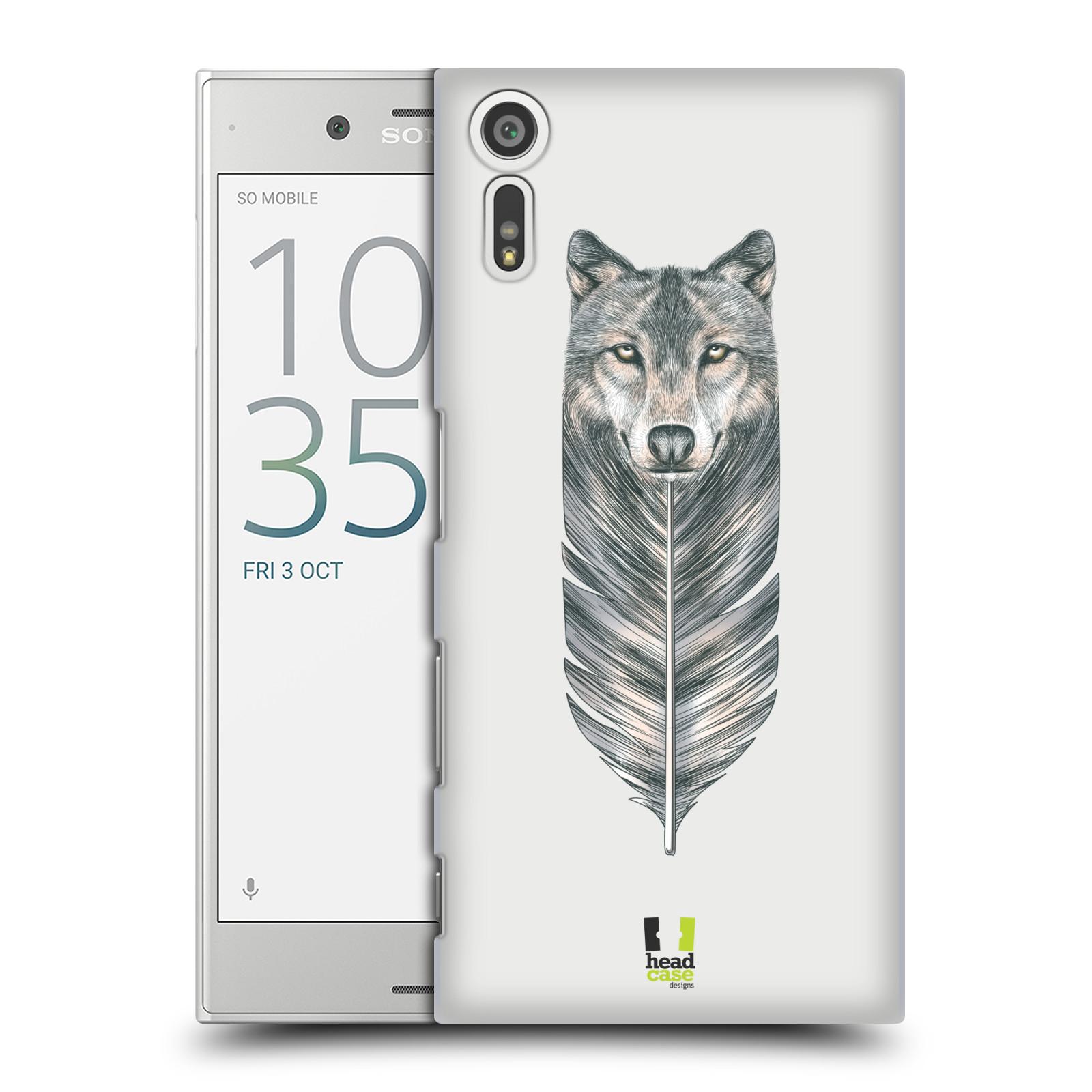 HEAD CASE plastový obal na mobil Sony Xperia XZ vzor zvířecí pírka vlk