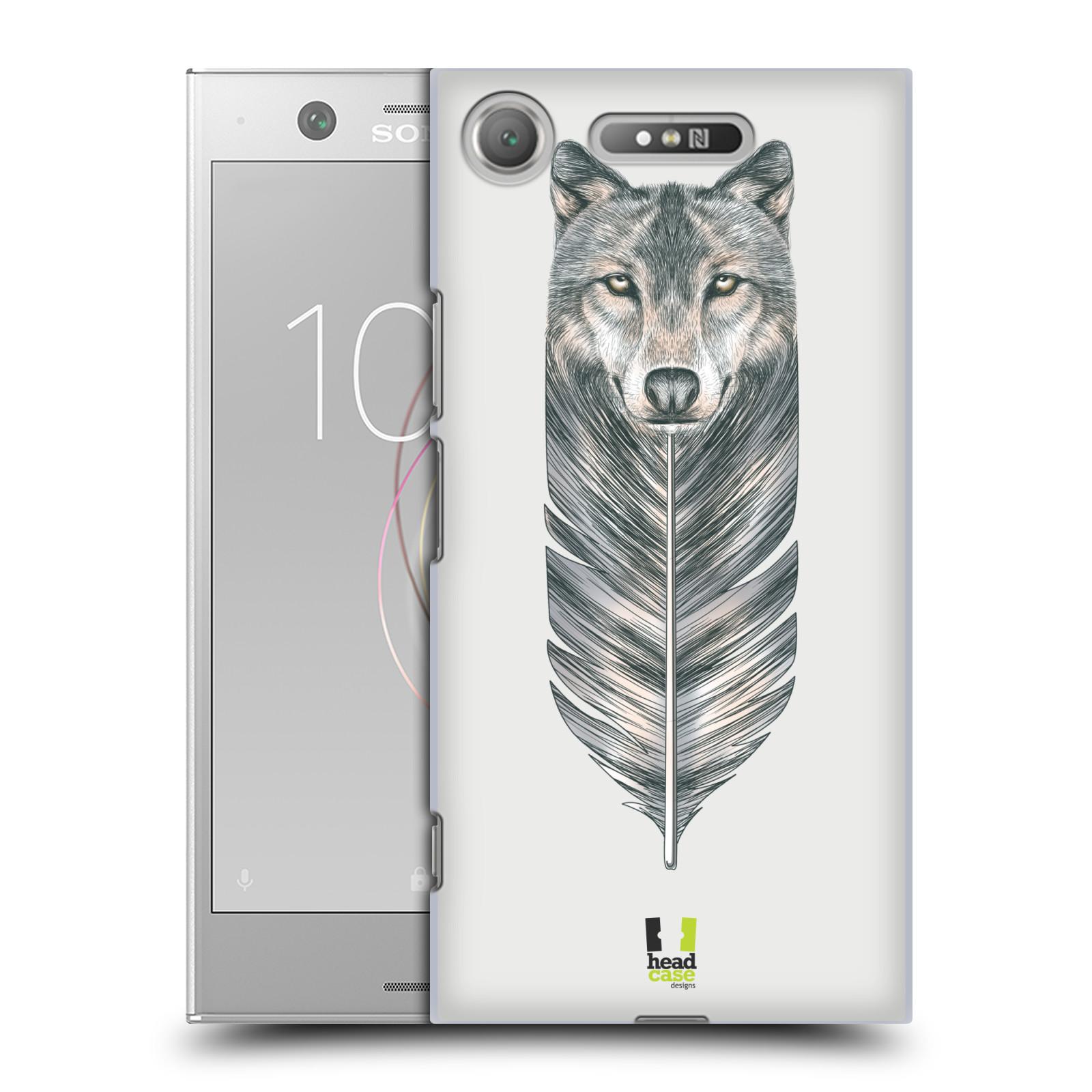 HEAD CASE plastový obal na mobil Sony Xperia XZ1 vzor zvířecí pírka vlk